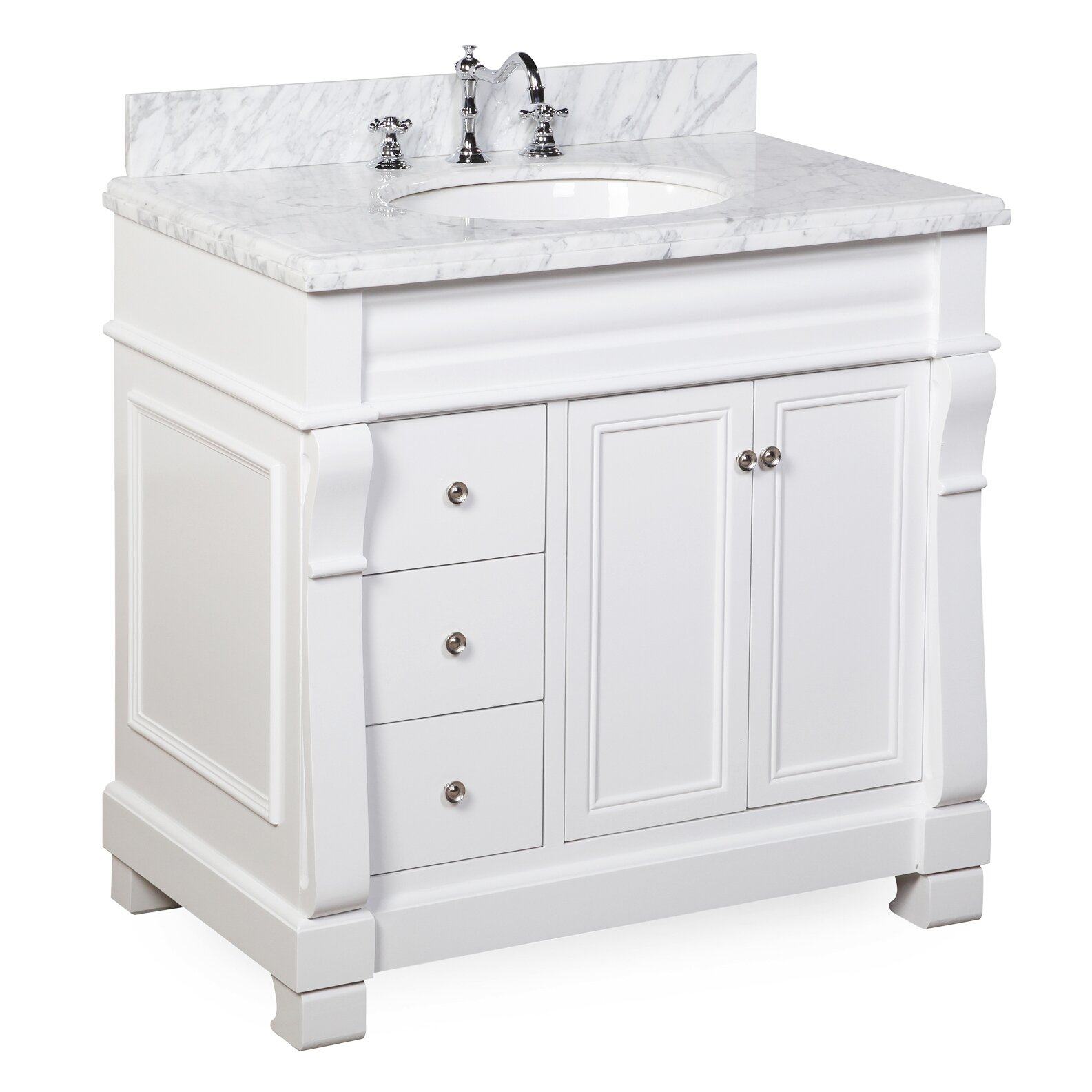 Kbc westminster 36 single bathroom vanity set reviews for Bath and vanity set