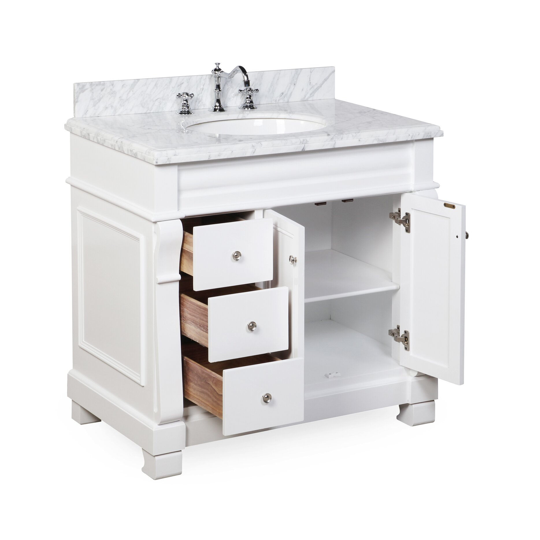 kbc westminster 36 quot single bathroom vanity set reviews