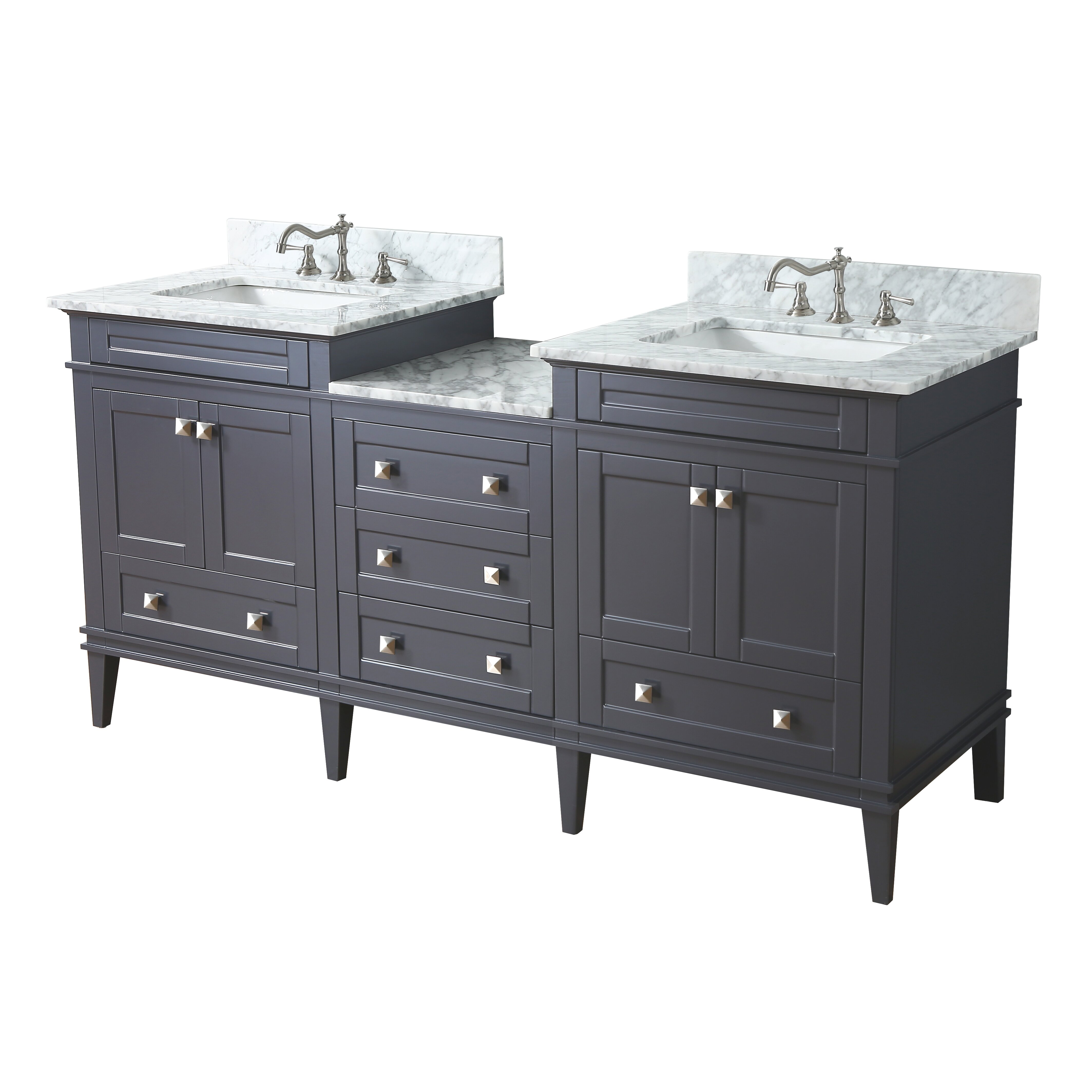 Kbc Eleanor 72 Double Bathroom Vanity Set Reviews Wayfair