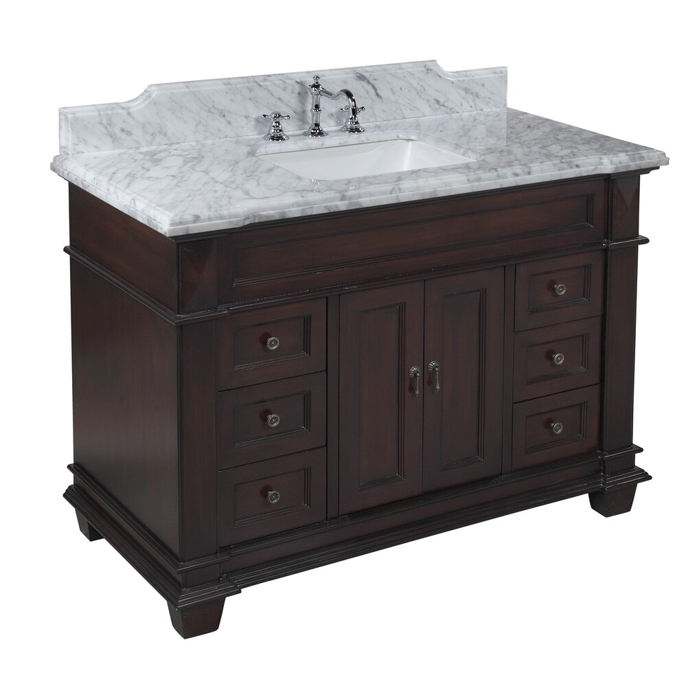 "Wayfair Bathroom Vanity >> KBC Elizabeth 48"" Single Bathroom Vanity Set & Reviews 