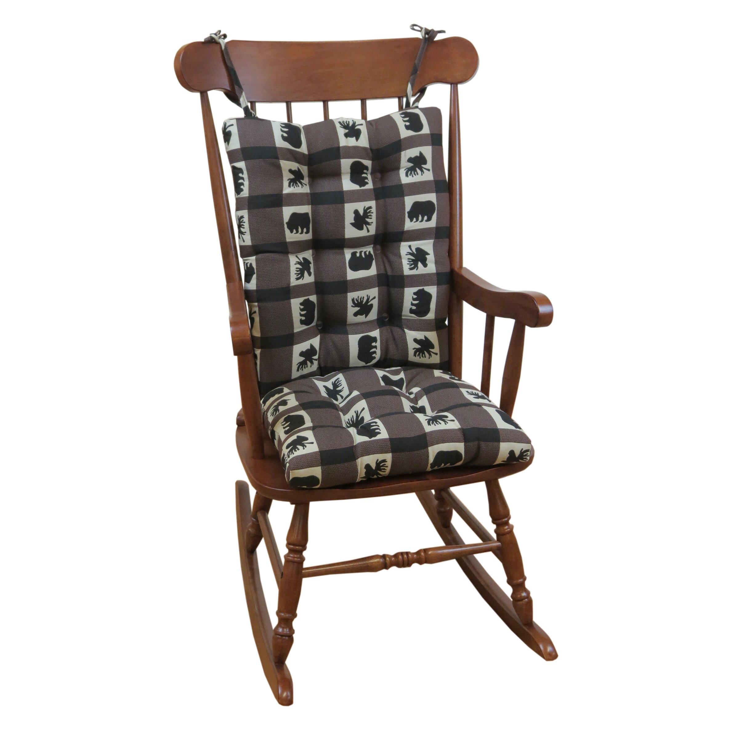 Klear Vu Lodge Animal Plaid Gripper Jumbo Rocking Chair