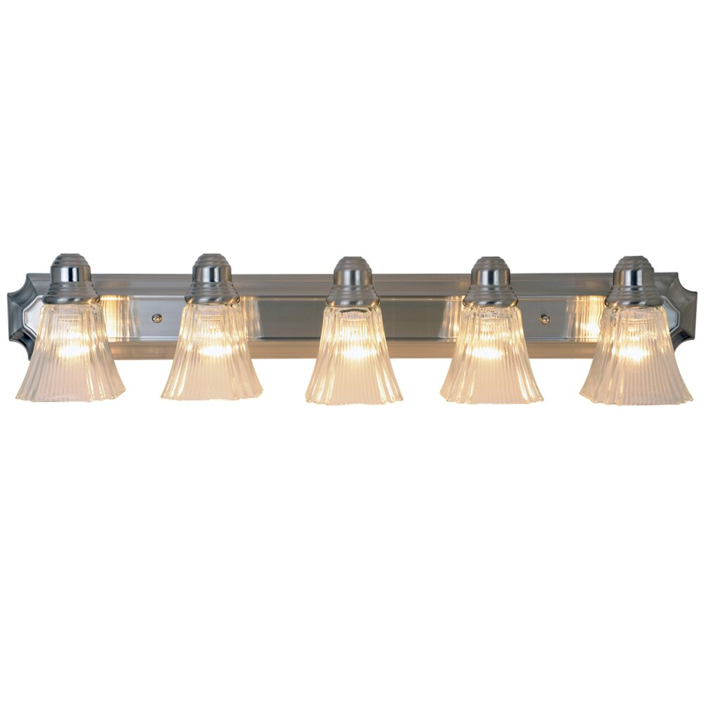 5 Light Bathroom Vanity Light: Monument Decorative 5 Light Vanity Light & Reviews