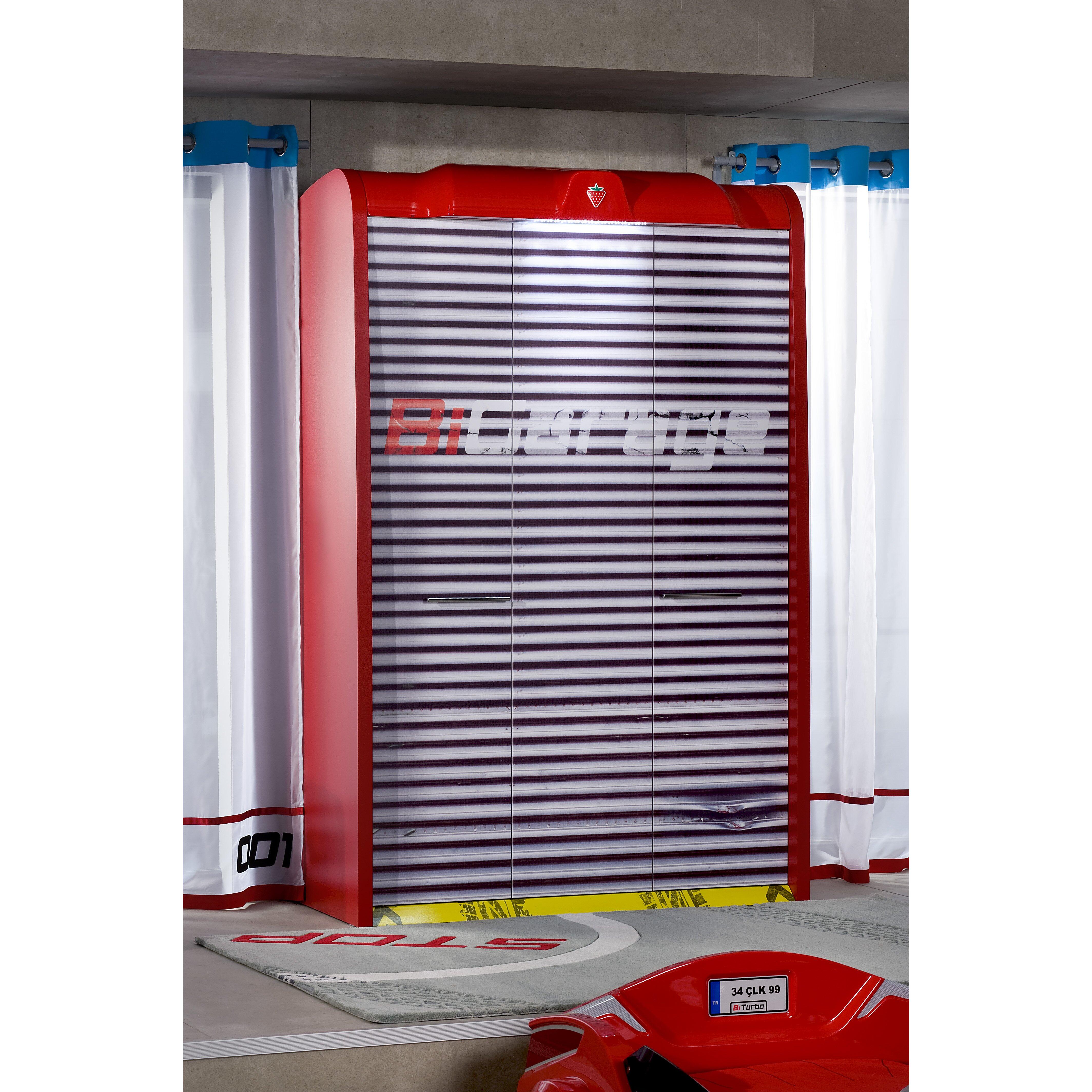 cilek need for sleep garage large armoire wayfair