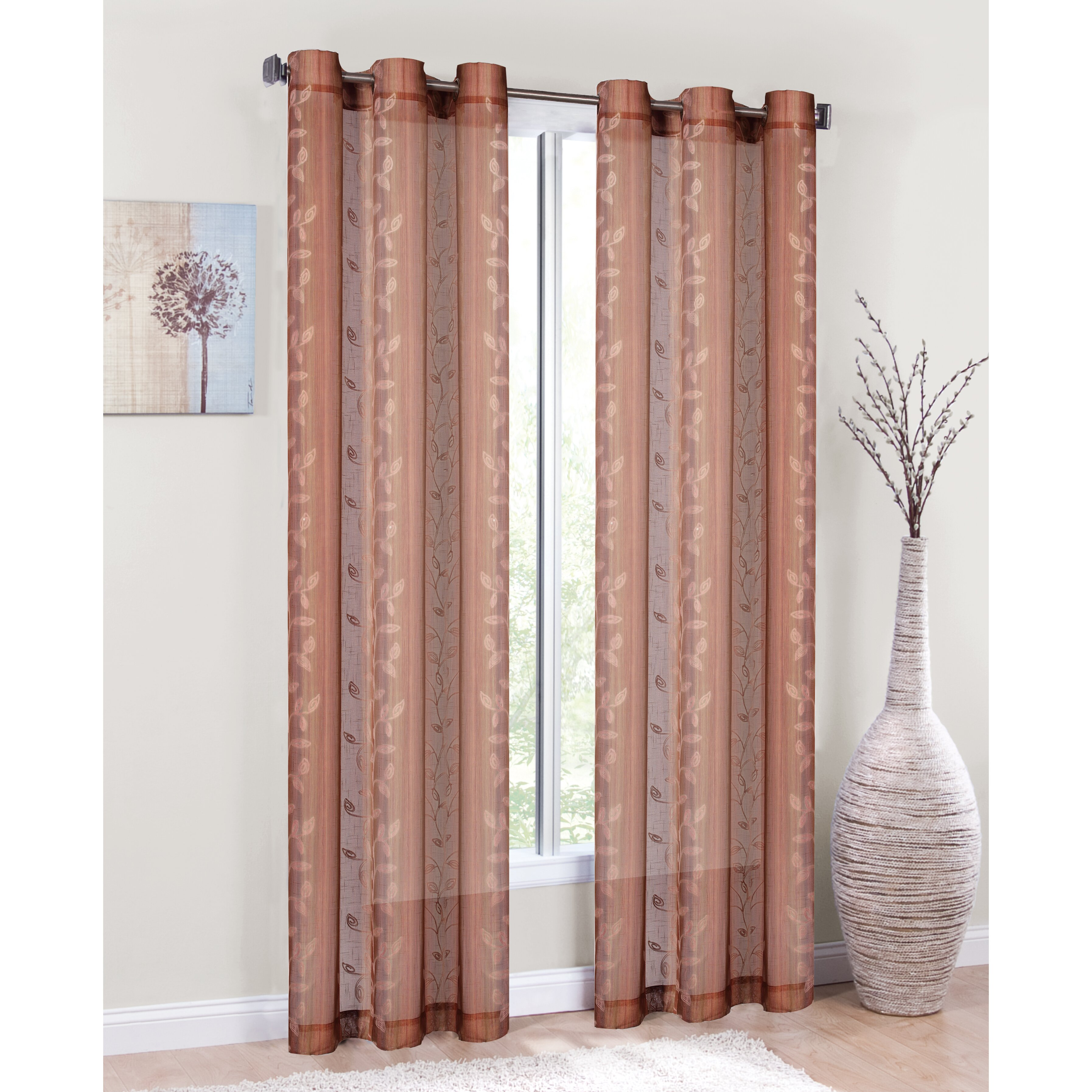 red barrel studio rubicon curtain panel pair reviews wayfair