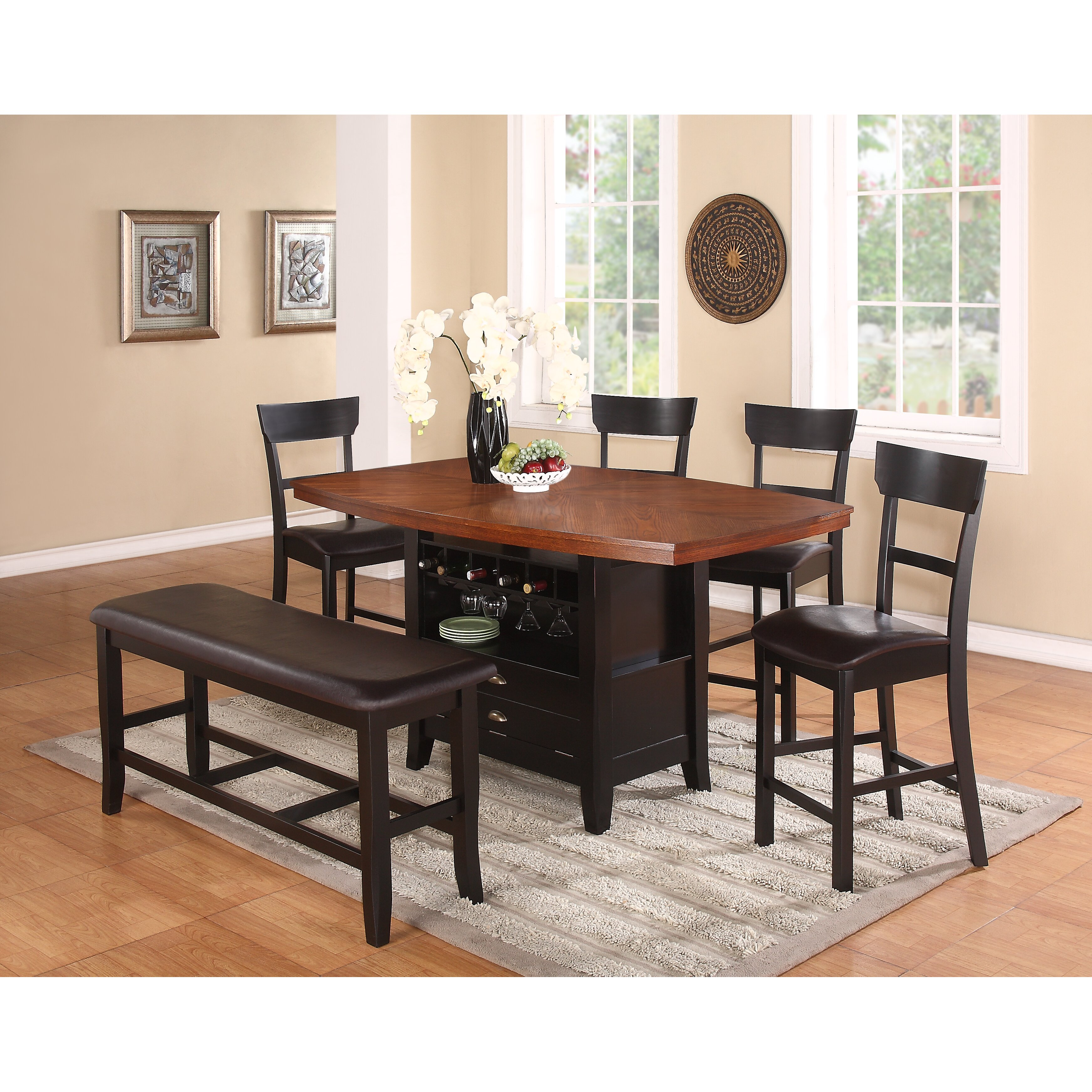 Red barrel studio wachusett counter height dining table for Red dining table