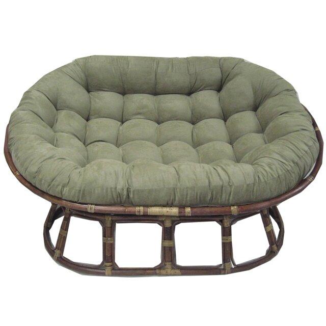 Red barrel studio oversize double papasan chair cushion for Double papasan chair cushion