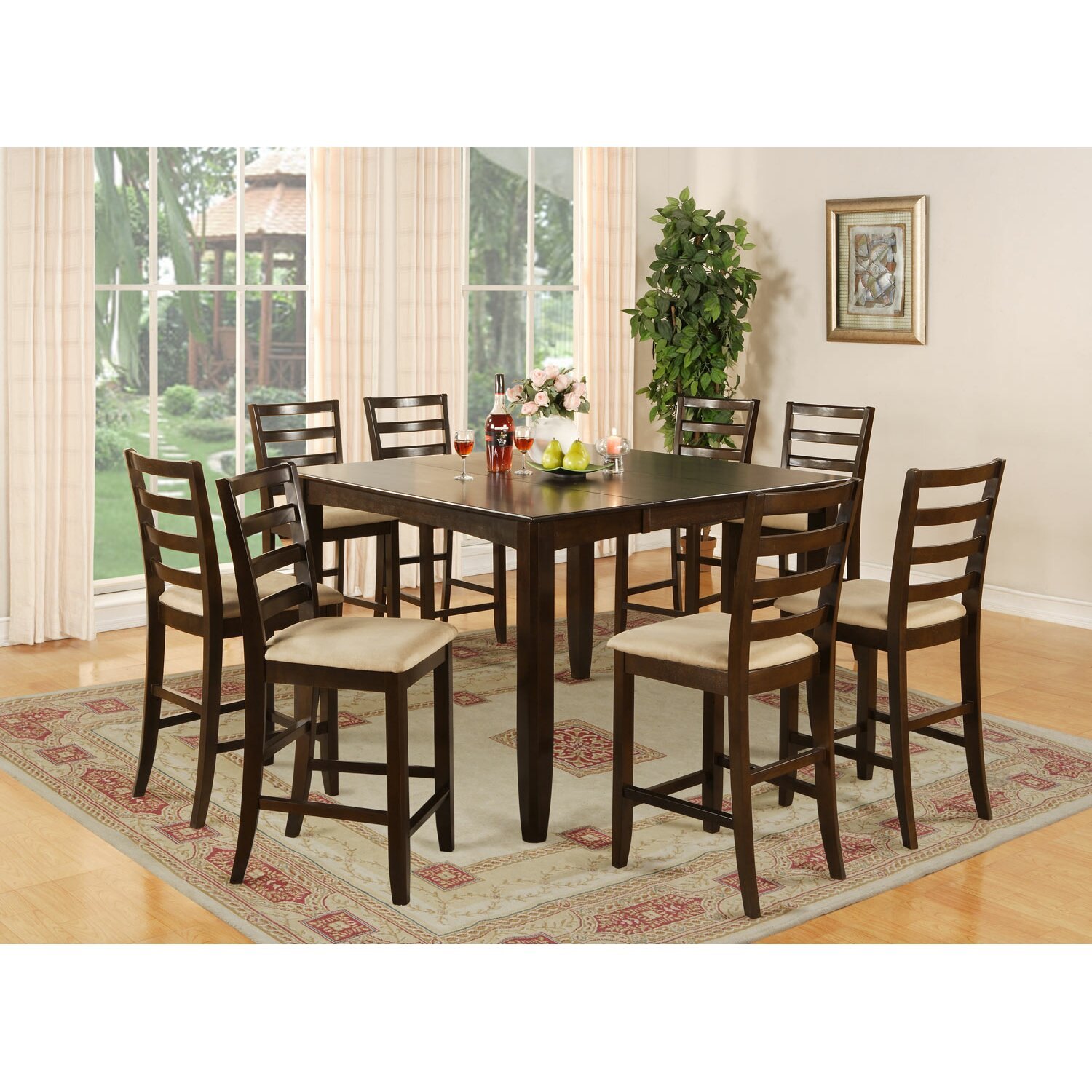 Red Barrel Studio Tamarack 9 Piece Counter Height Dining