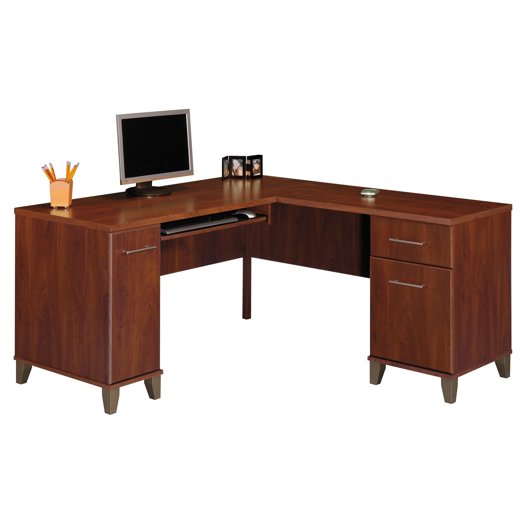 Red Barrel Studio 4 Piece L Shape Desk Office Suite Reviews Wayfair