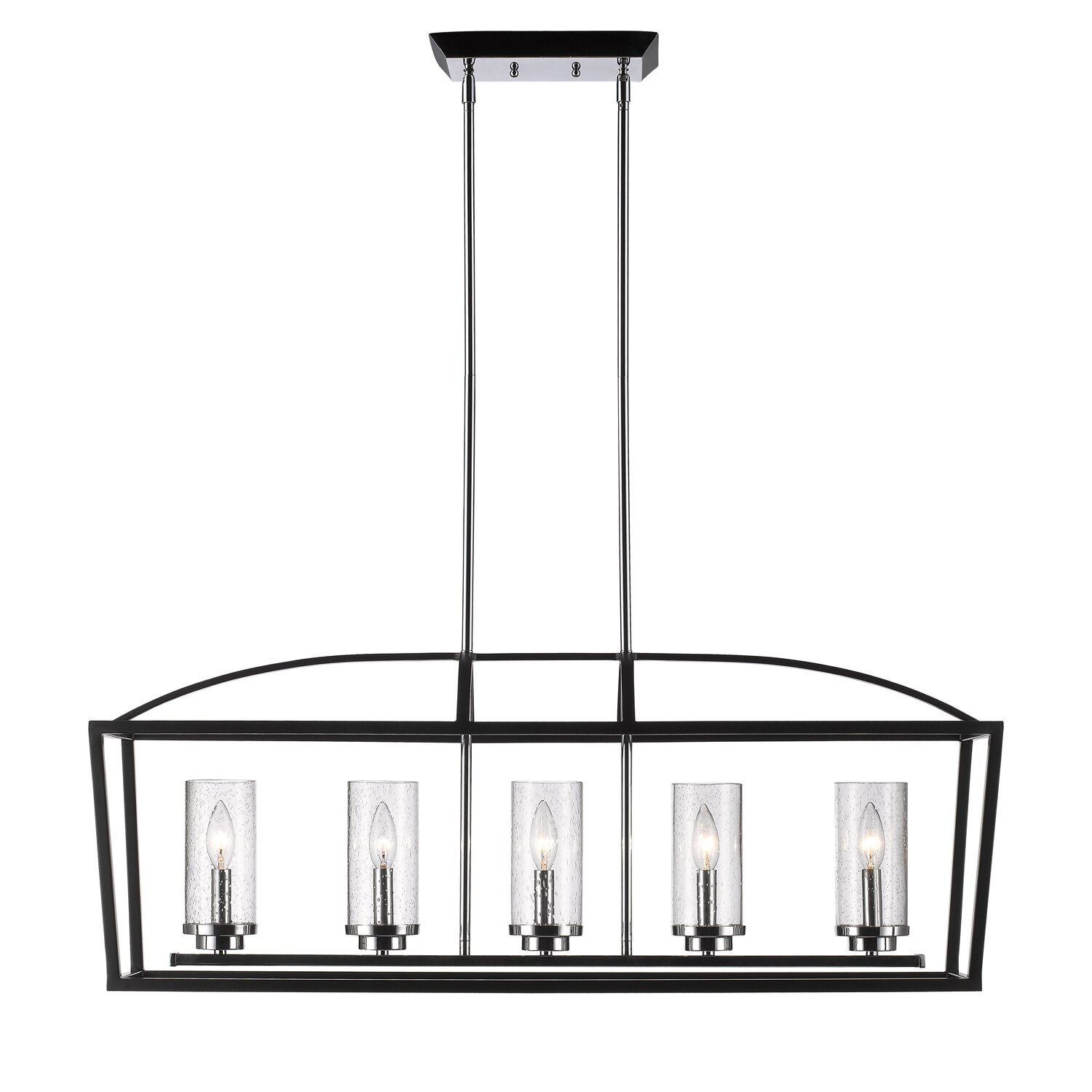 Red barrel studio barrera 5 light kitchen island pendant for Kitchen island lighting pendants
