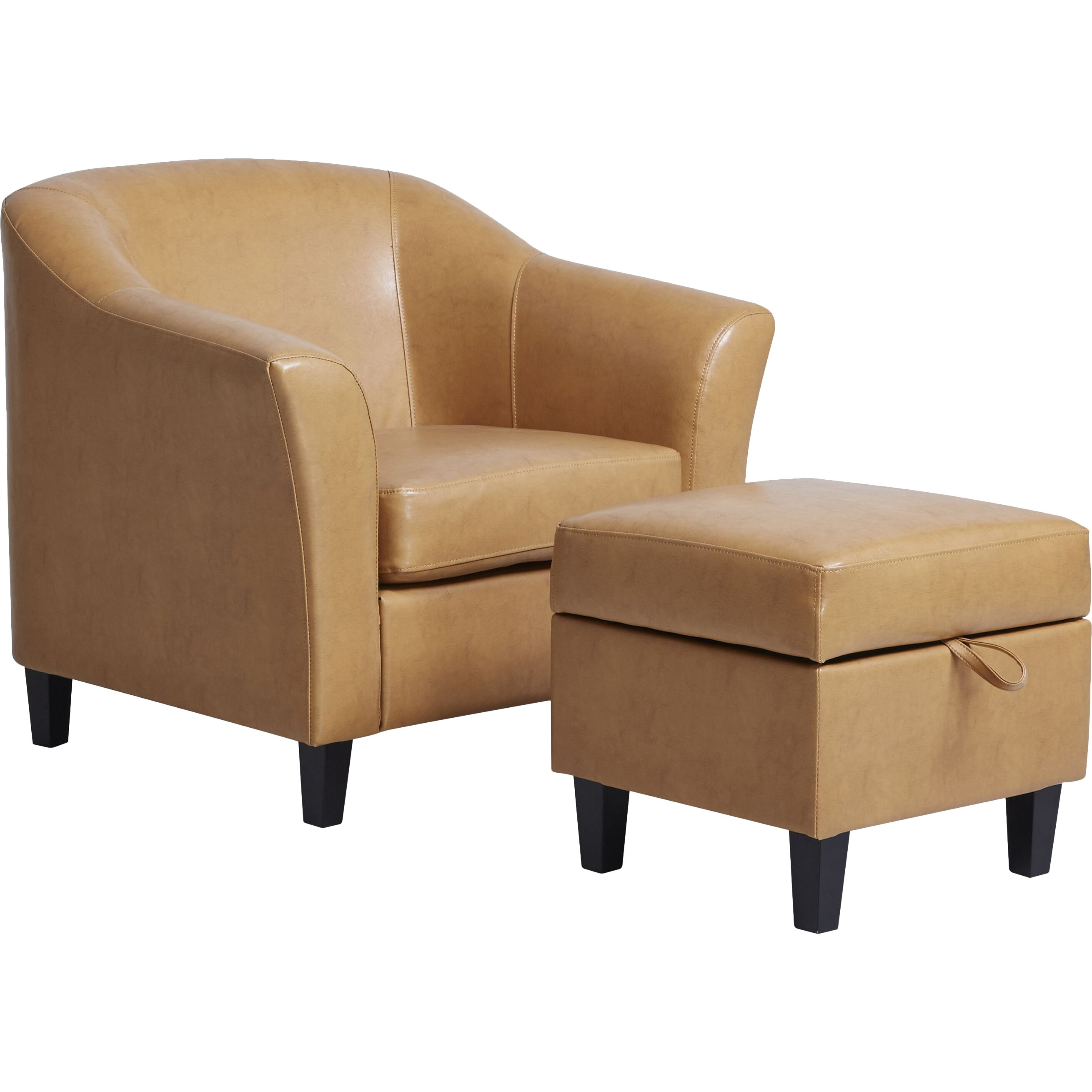 Red Barrel Studio Lone Peak Club Chair And Ottoman