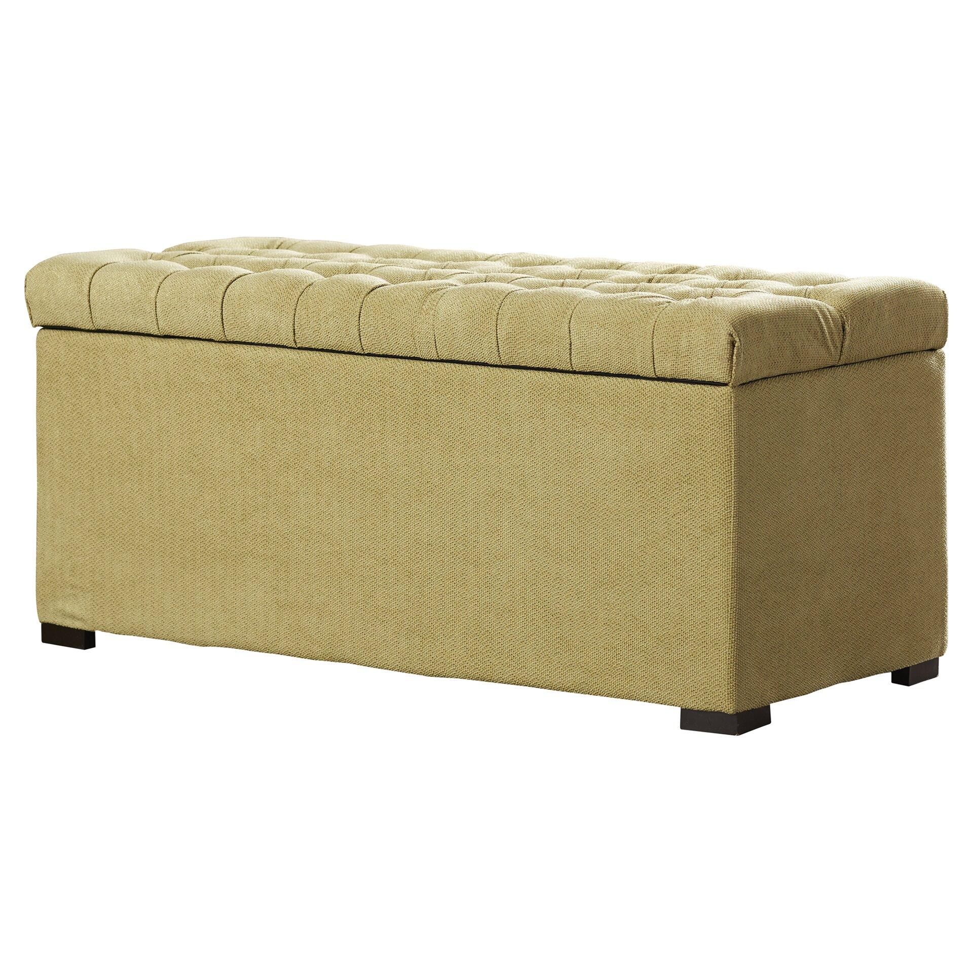 Red barrel studio elk valley upholstered storage bedroom bench reviews wayfair - Bedroom benches with storage ...