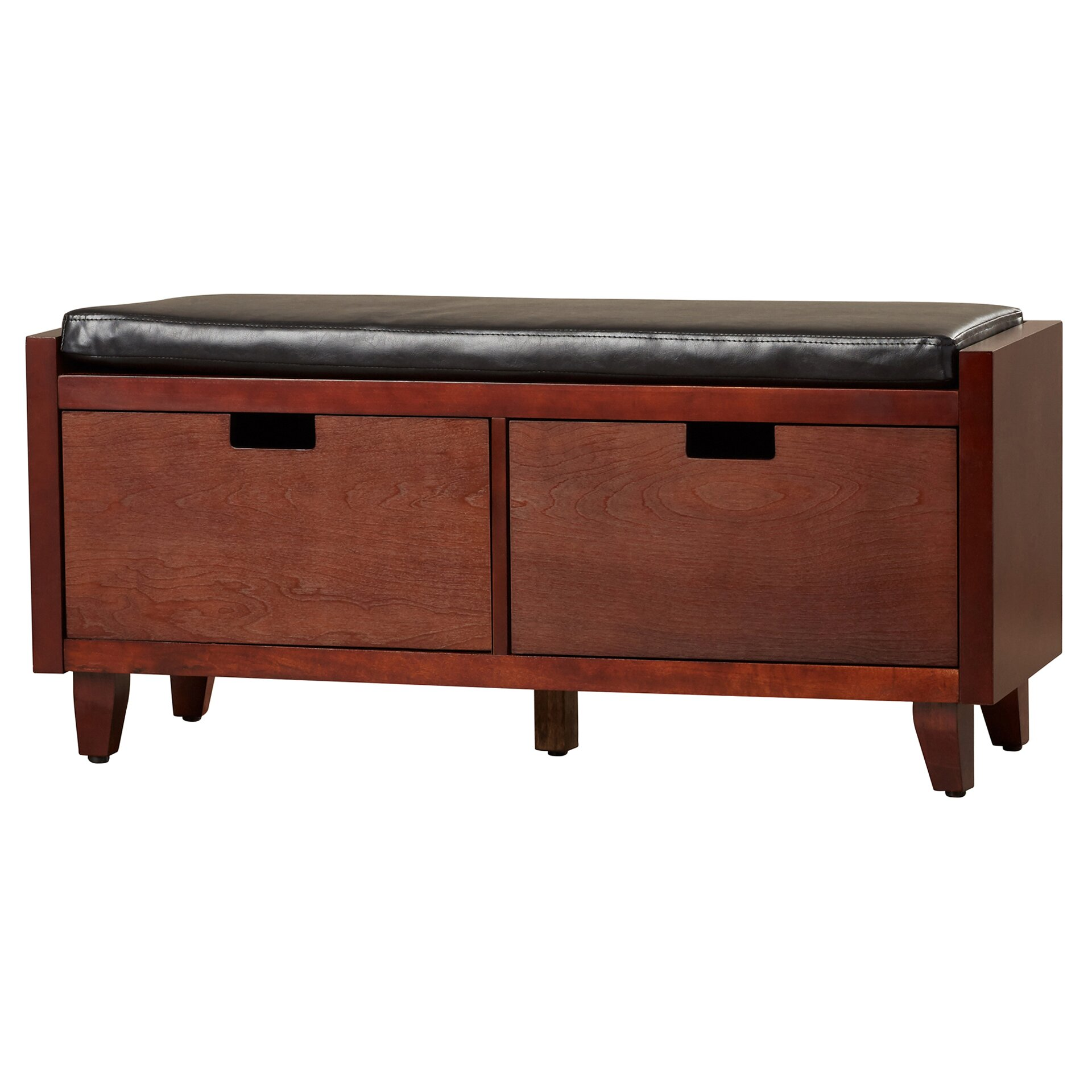 Red Foyer Bench : Red barrel studio leather storage entryway bench reviews