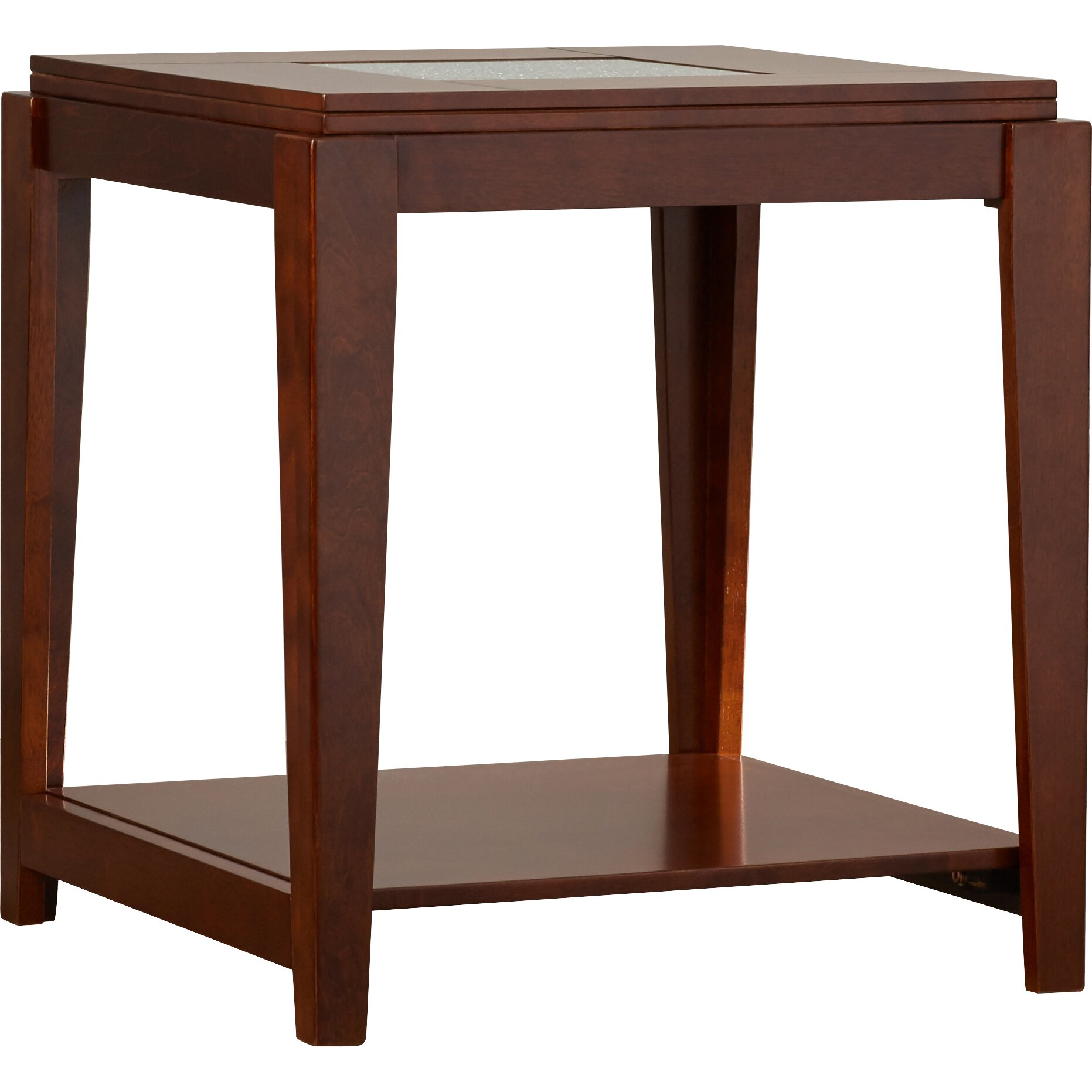 Red barrel studio downs end table wayfair for Red side table