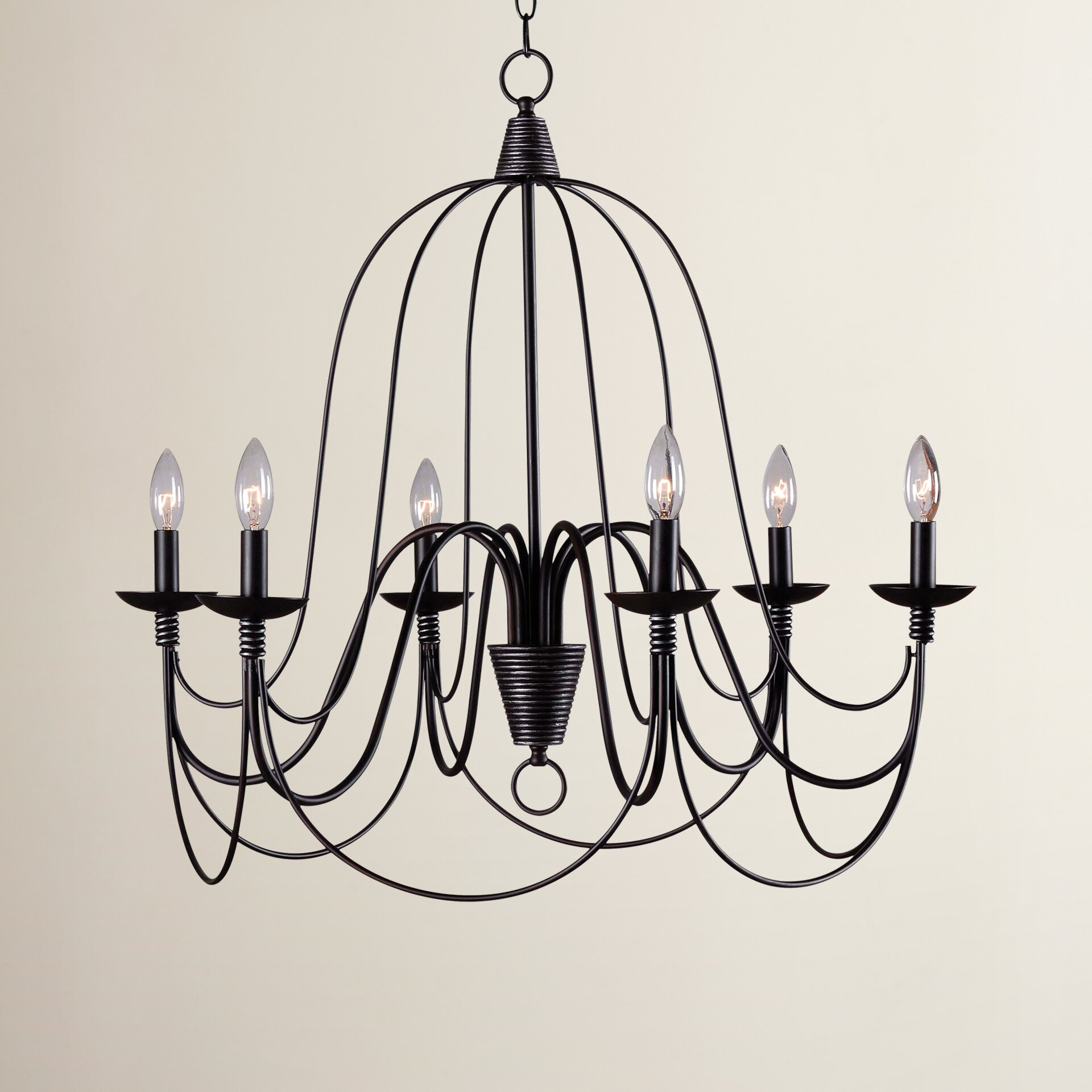 Wayfair Chandelier: Red Barrel Studio Big Sky 6 Light Candle Chandelier