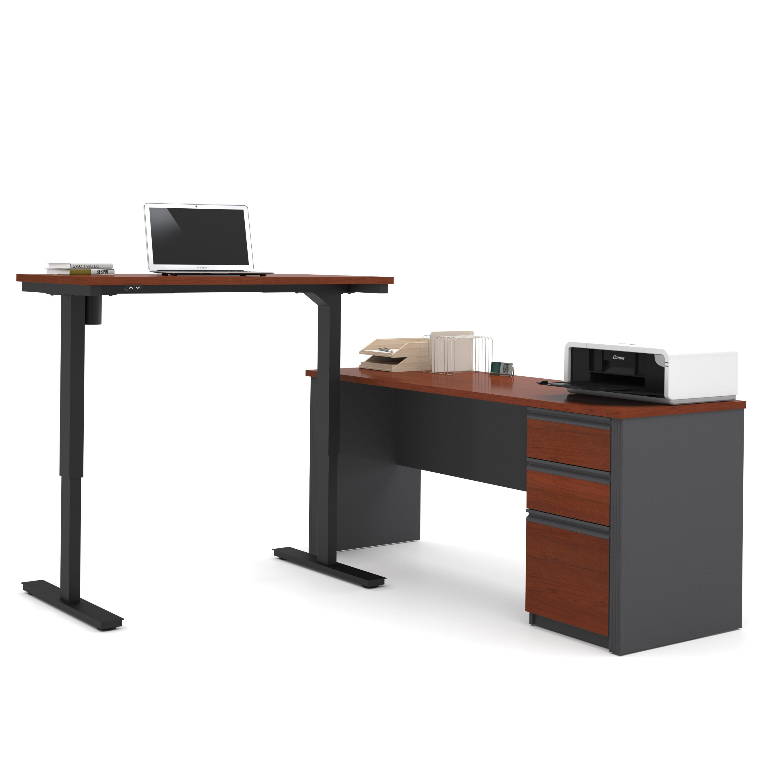 red barrel studio bormann learning desk with height. Black Bedroom Furniture Sets. Home Design Ideas