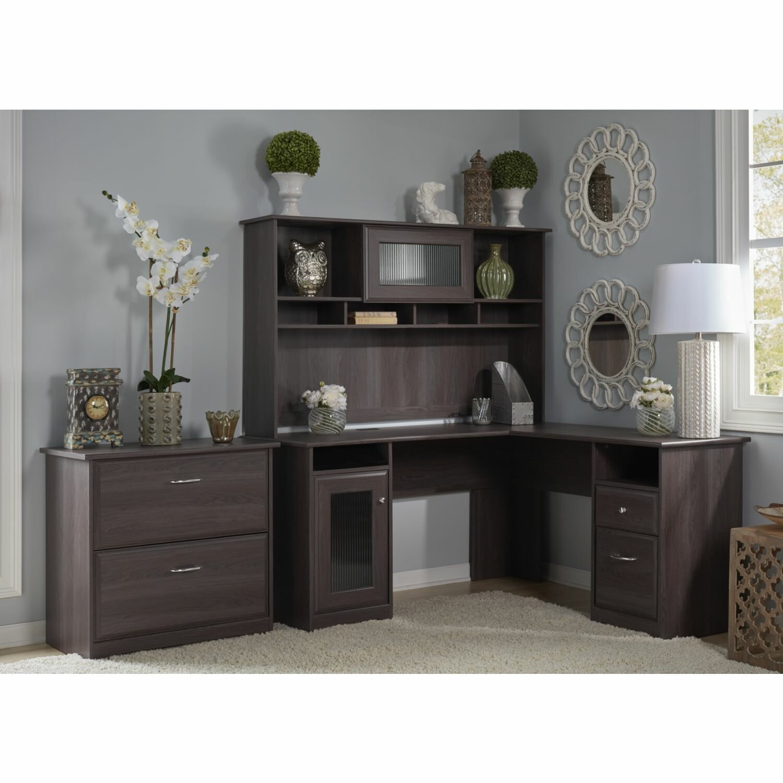 Red Barrel Studio Capital L Shape Executive Desk With