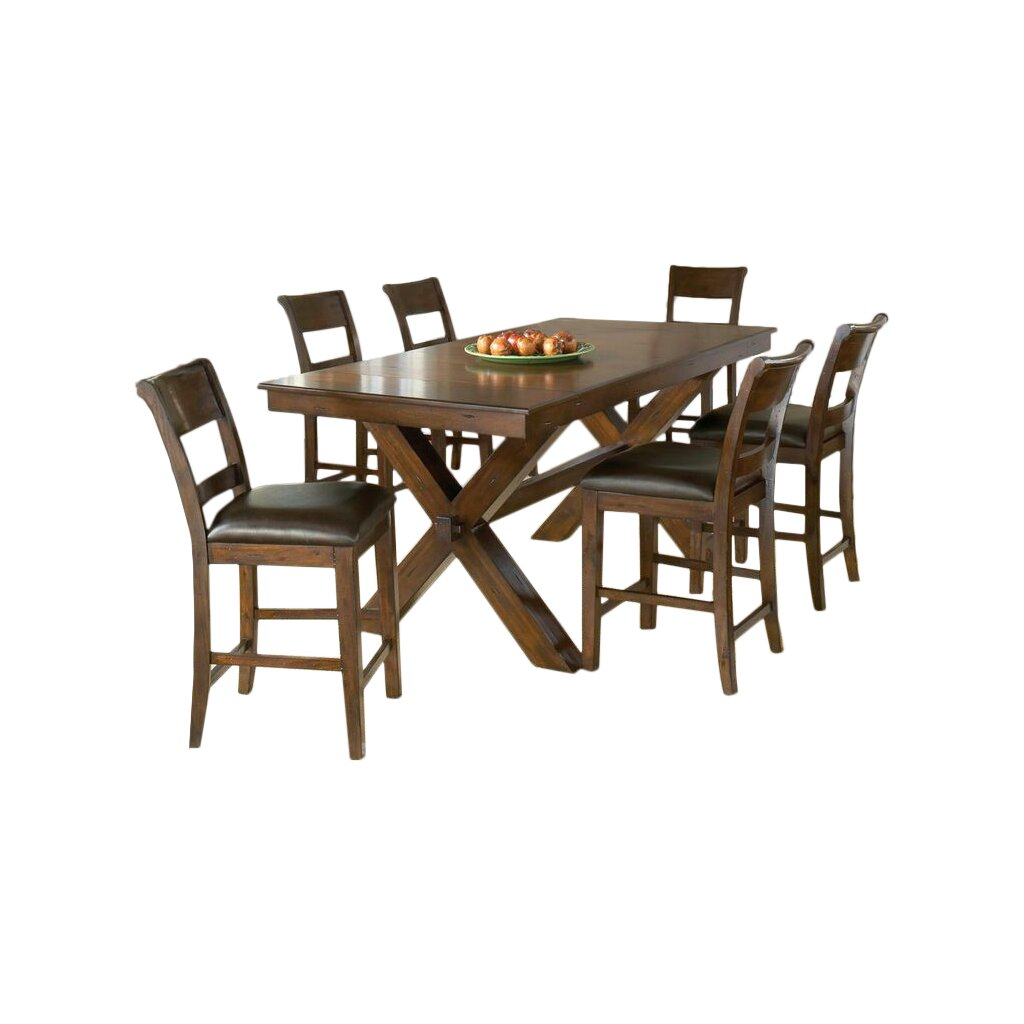 Old World 7 Piece Counter Height Dining Set Shoal at Hayneedle