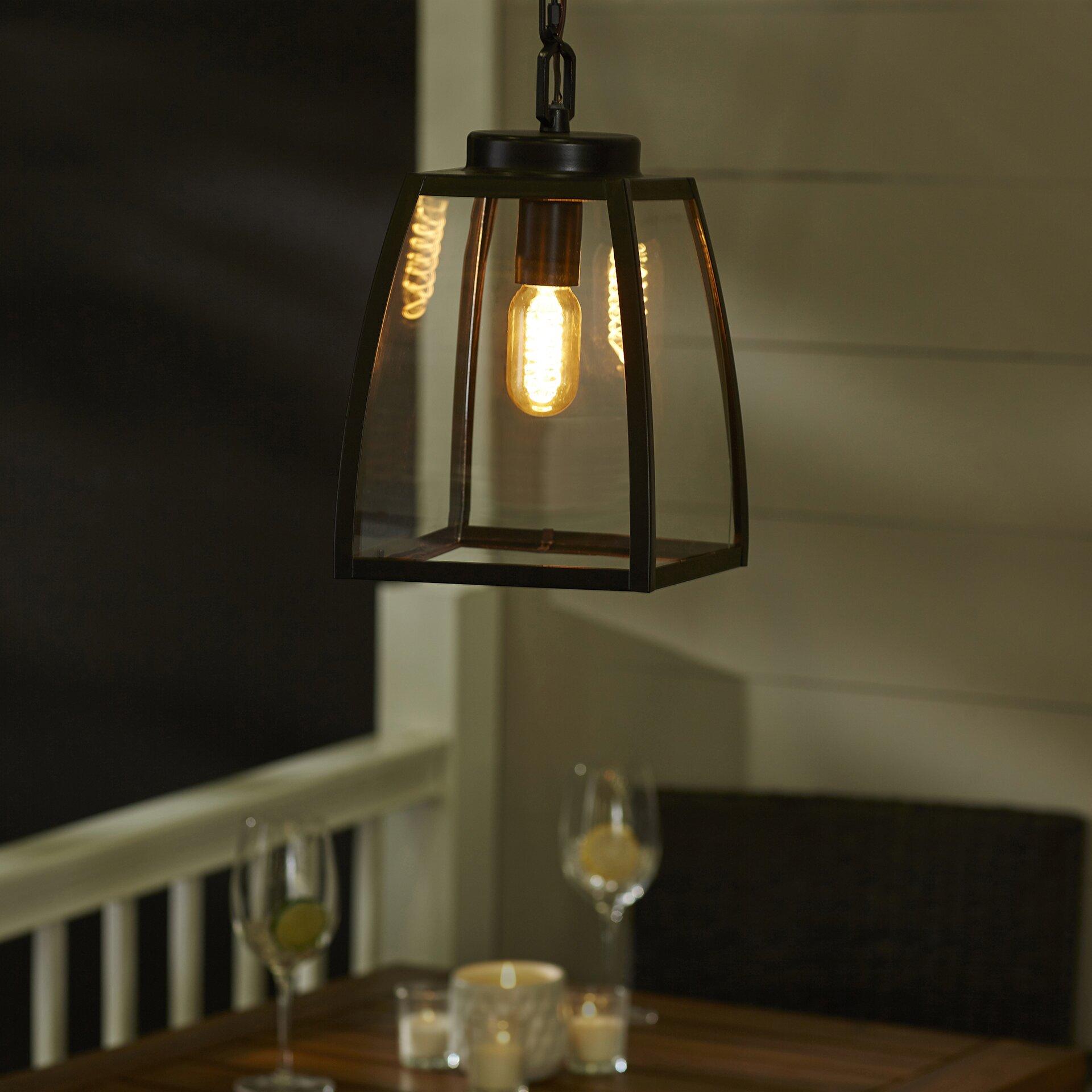 Exterior Mini Lighting: Red Barrel Studio Silver Gulch 1 Light Outdoor Pendant