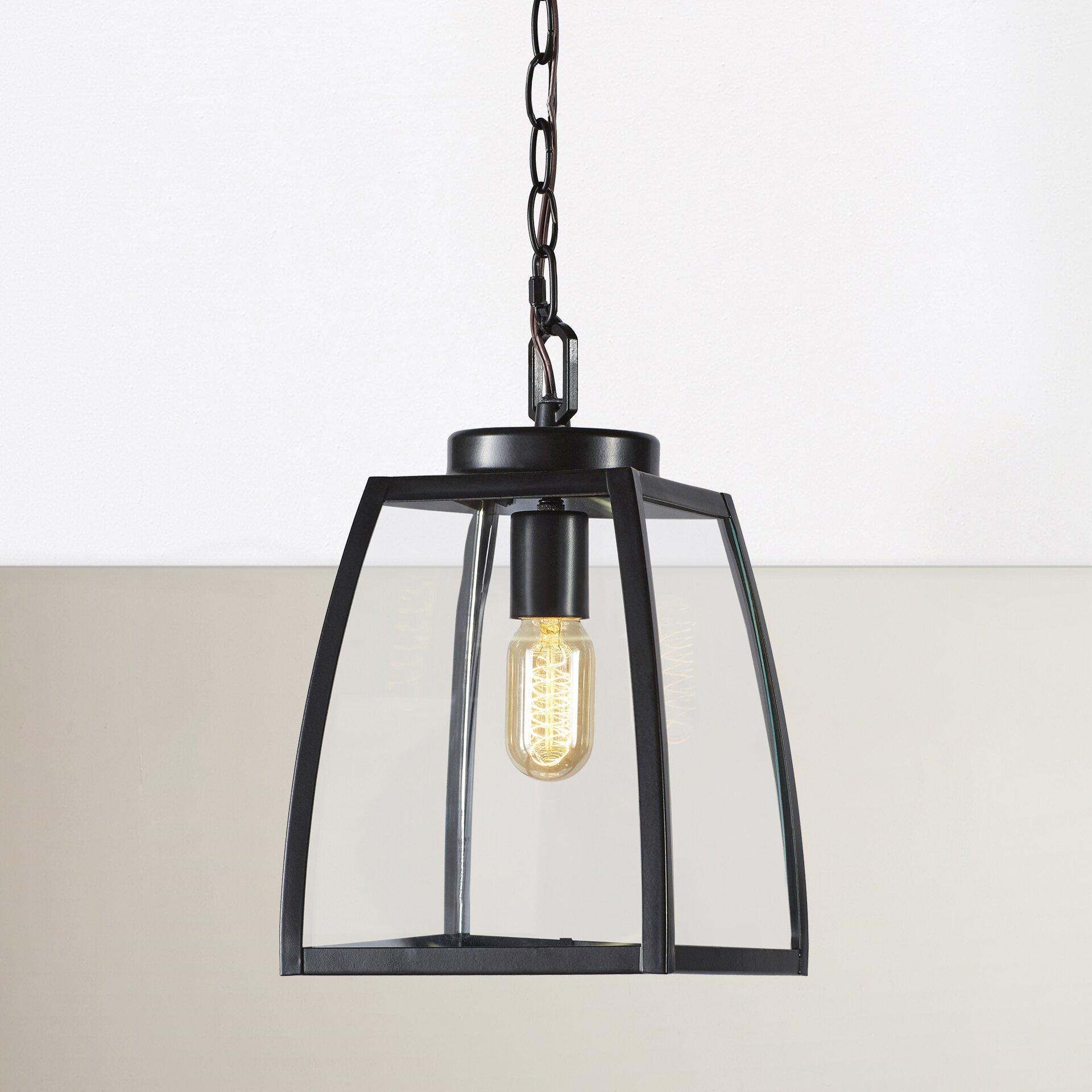 Wayfair Outdoor Hanging Lights: Red Barrel Studio Silver Gulch 1 Light Outdoor Pendant