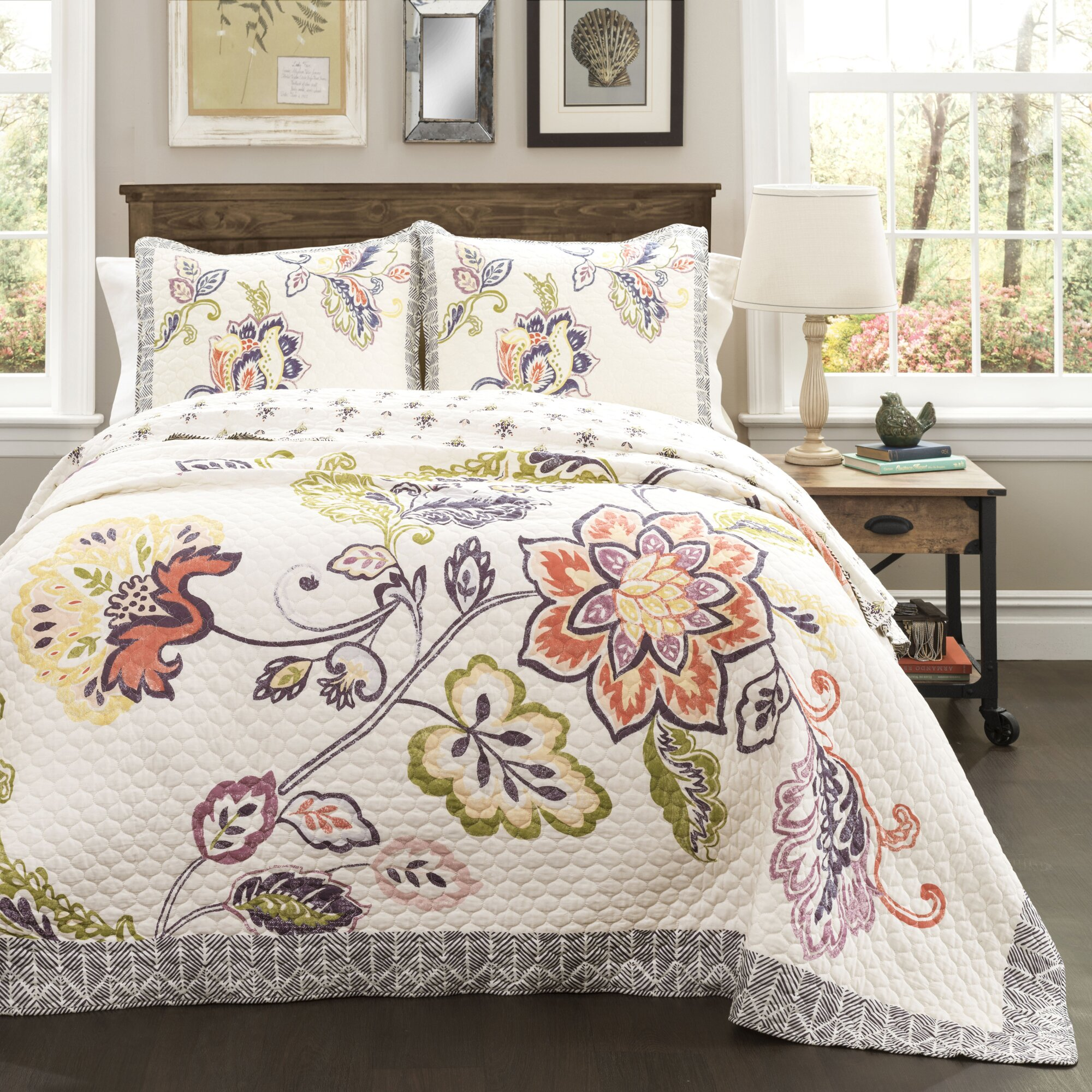 Red Barrel Studio Angel 3 Piece Reversible Quilt Set
