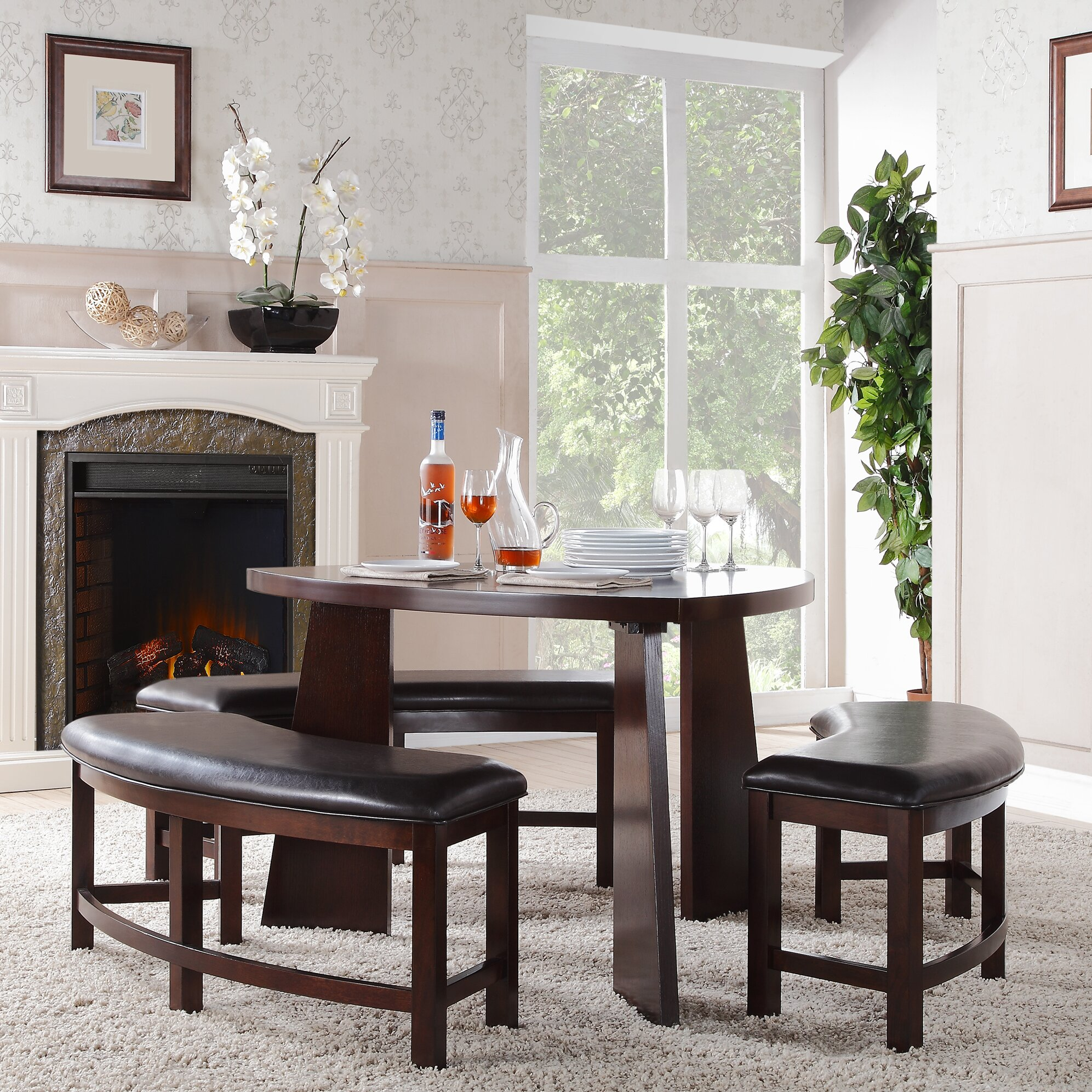 red barrel studio anton 4 piece dining set reviews wayfair
