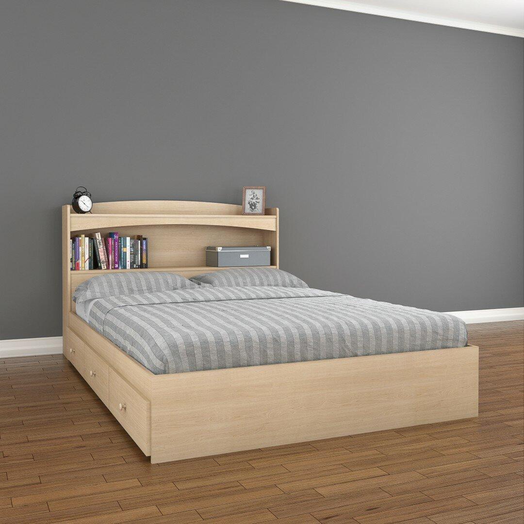 Full Wood Headboard : ... Studio Brook Hollow Full Wood Storage Headboard & Reviews  Wayfair
