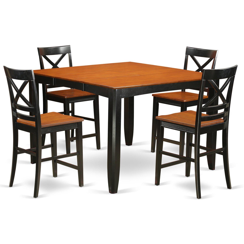red barrel studio tamarack 5 piece counter height pub table set wayfair. Black Bedroom Furniture Sets. Home Design Ideas