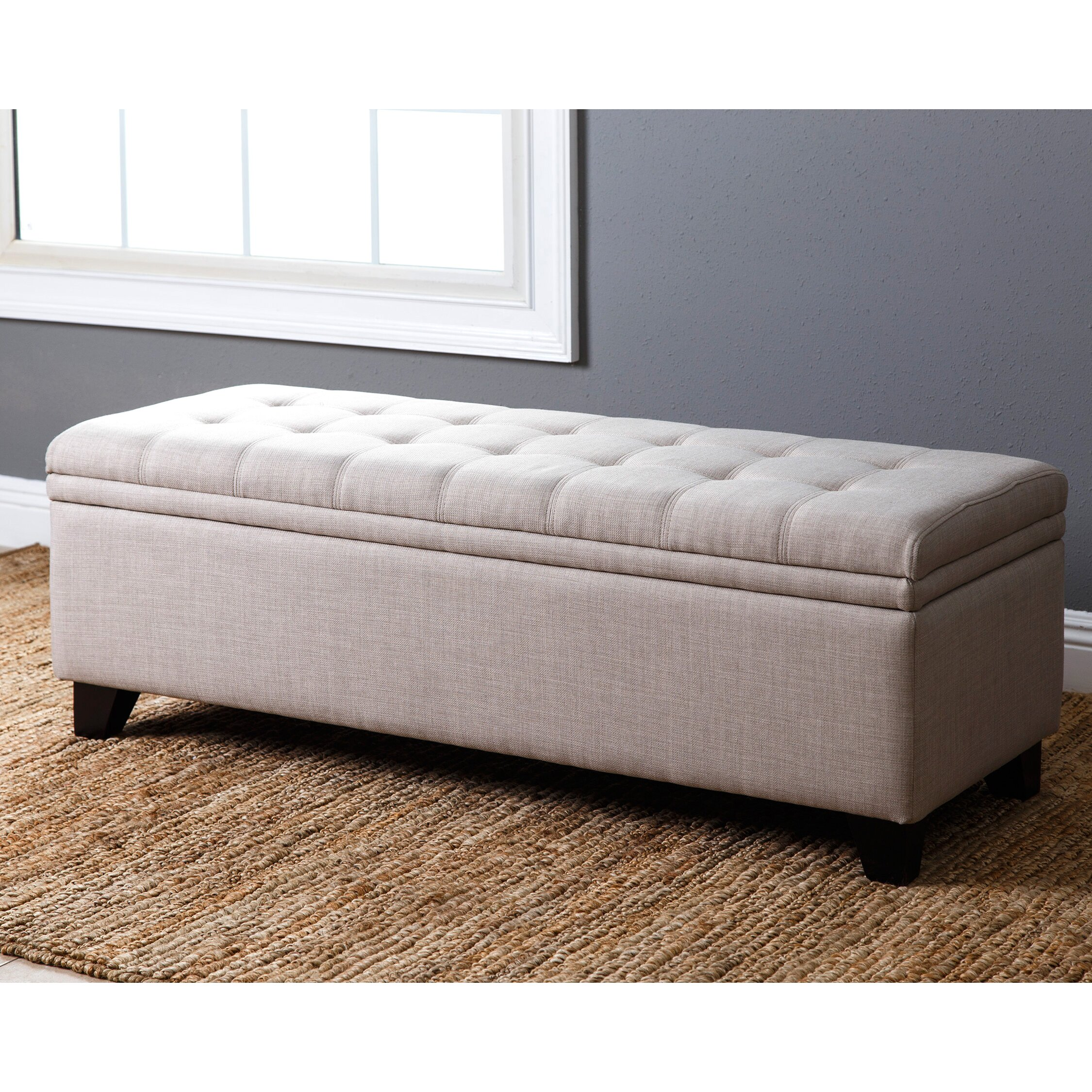 Red Barrel Studio Rose Tufted Double Storage Ottoman