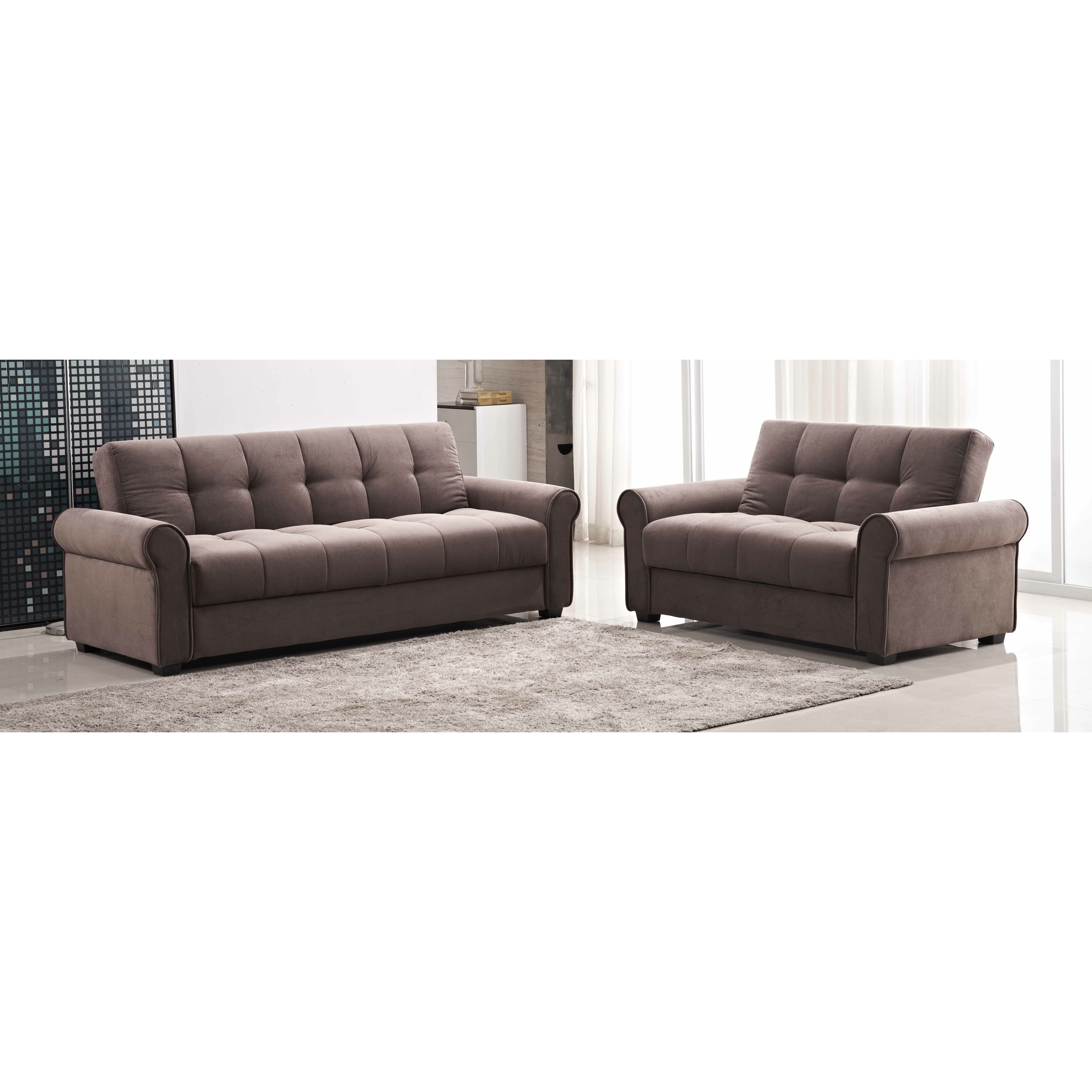 Red Barrel Studio Russell Click Clack Sofa And Loveseat Set Wayfair
