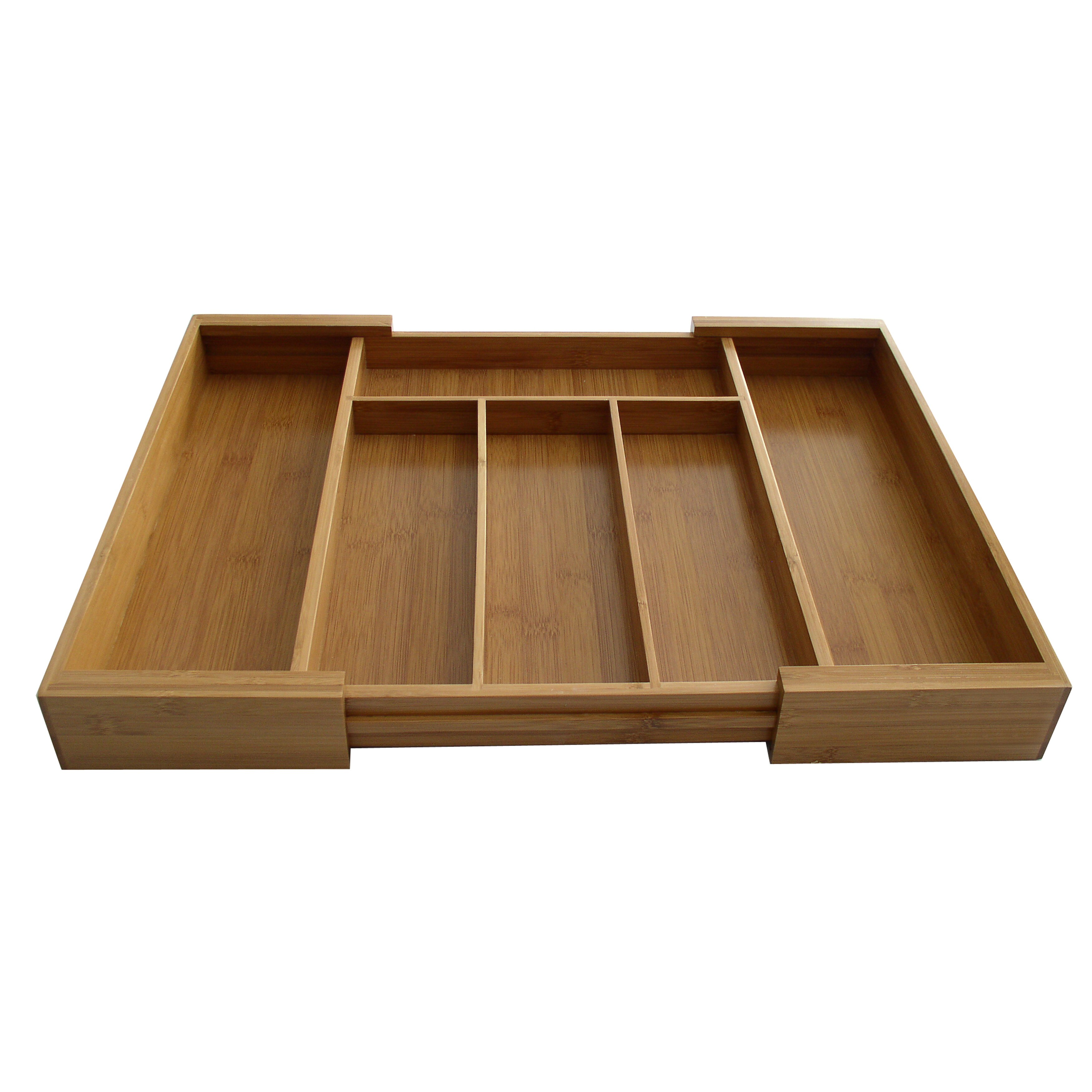 Axis International Bamboo Expandable Drawer Organizer