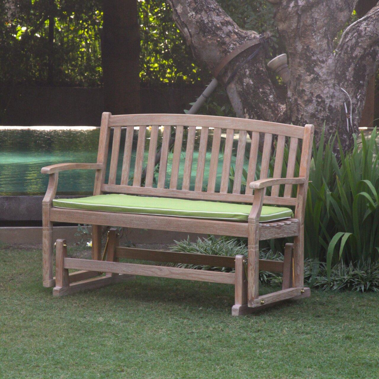 Cambridge Casual Monterey Teak Glider Garden Bench
