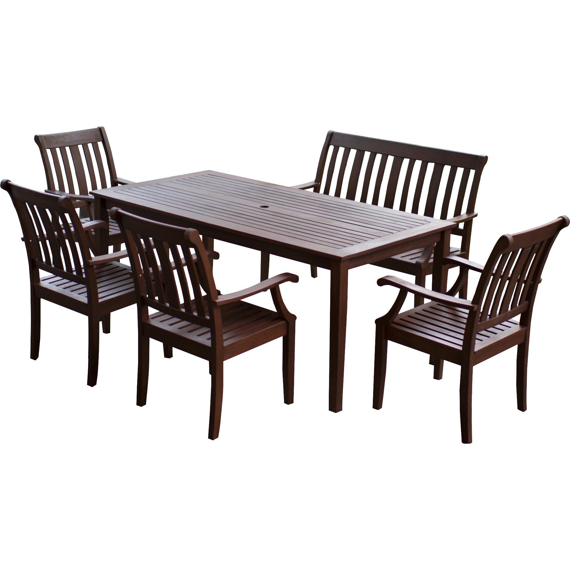 Piece Patio Furniture Dining Set