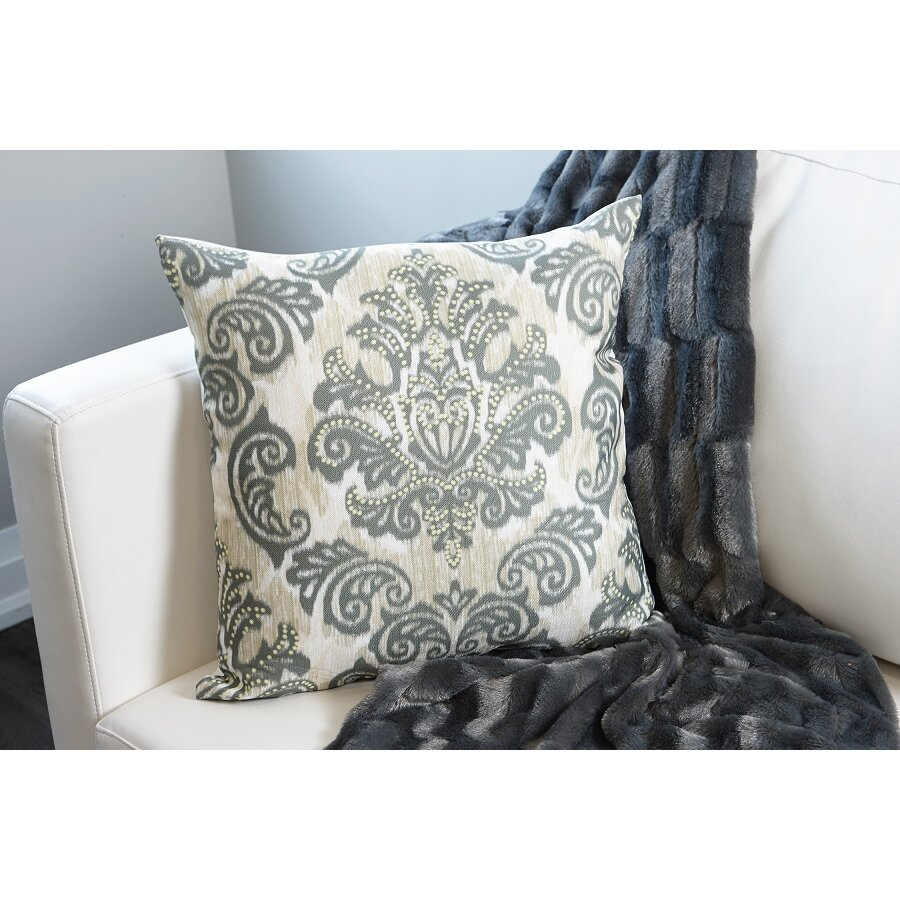 Throw Pillows Damask : Flato Home Emerald Damask Throw Pillow Wayfair