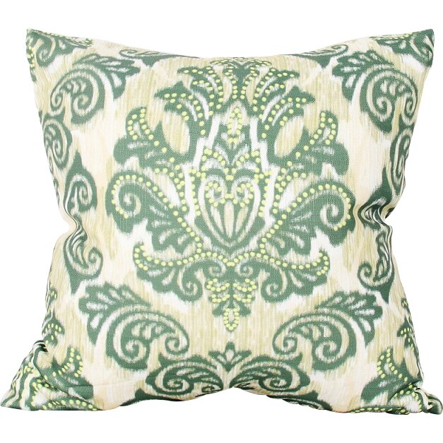 Flato Home Emerald Damask Throw Pillow Wayfair