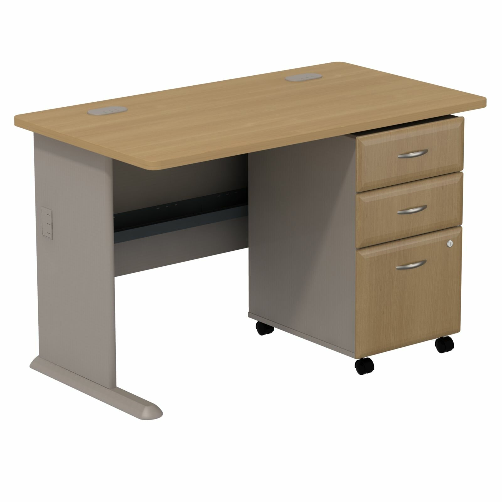 desk with file drawer bush business furniture series a computer desk with 3 29169