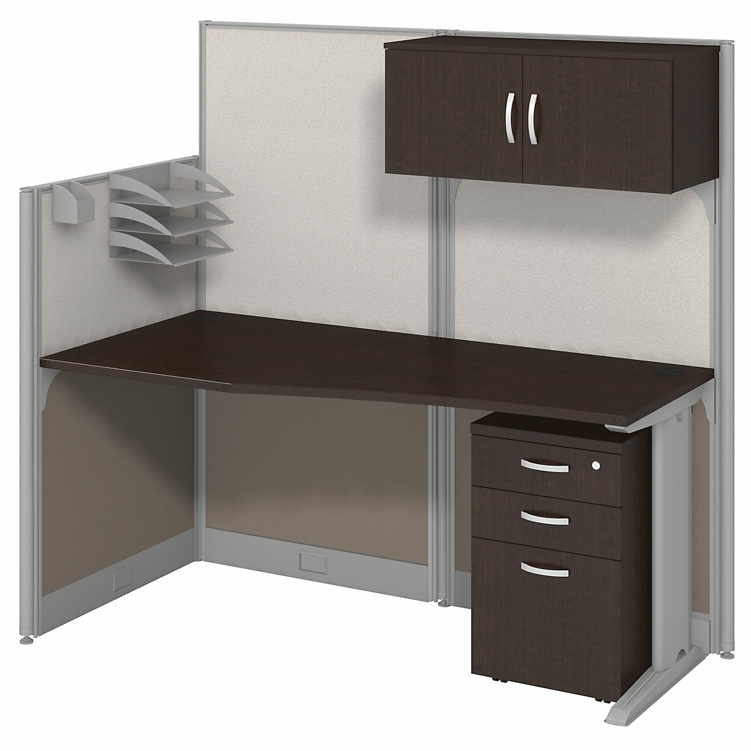 Bush Business Furniture Office In An Hour Straight Workstation With Storage And Accessories