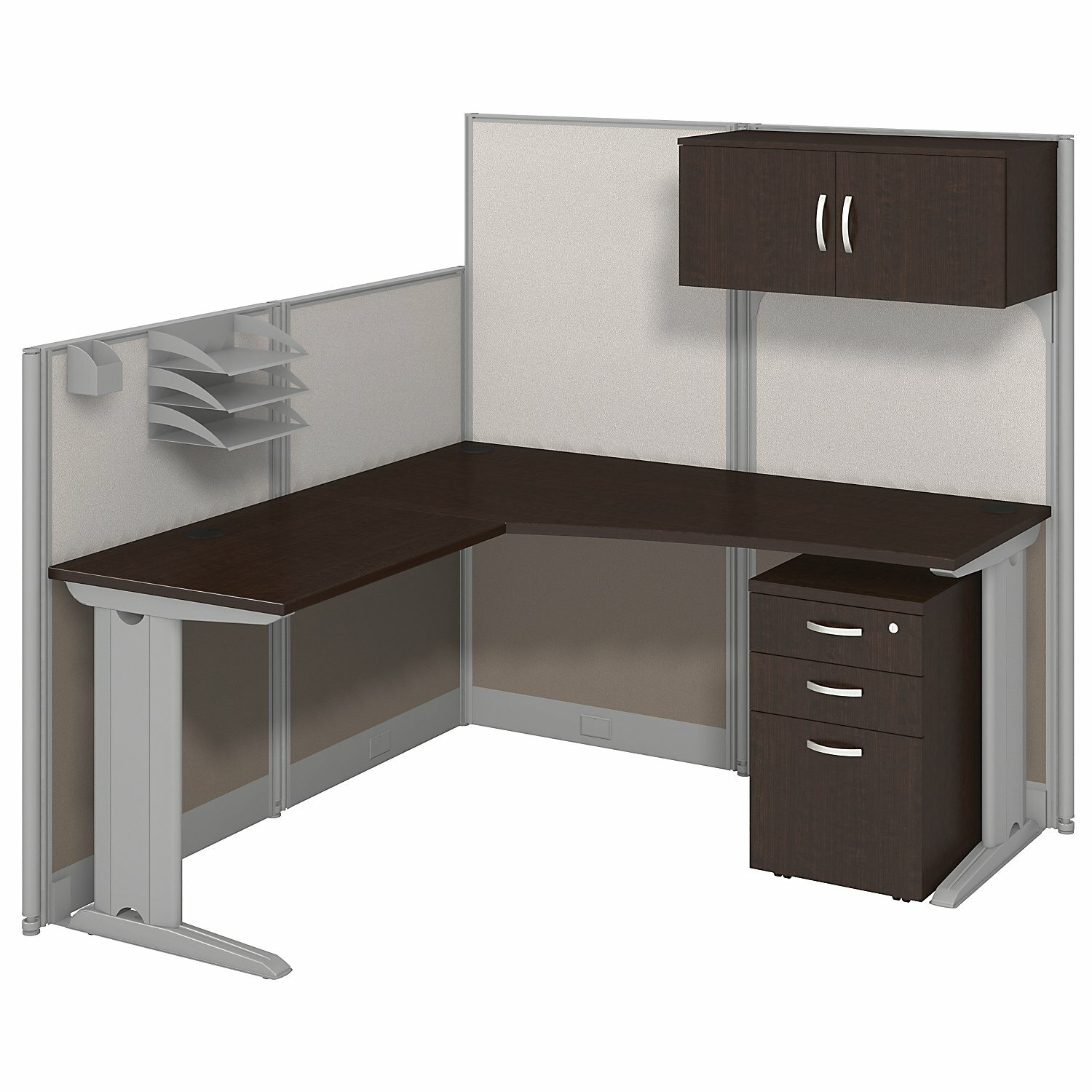 Bush Business Furniture Office In An Hour L Workstation With Storage And Accessories Reviews