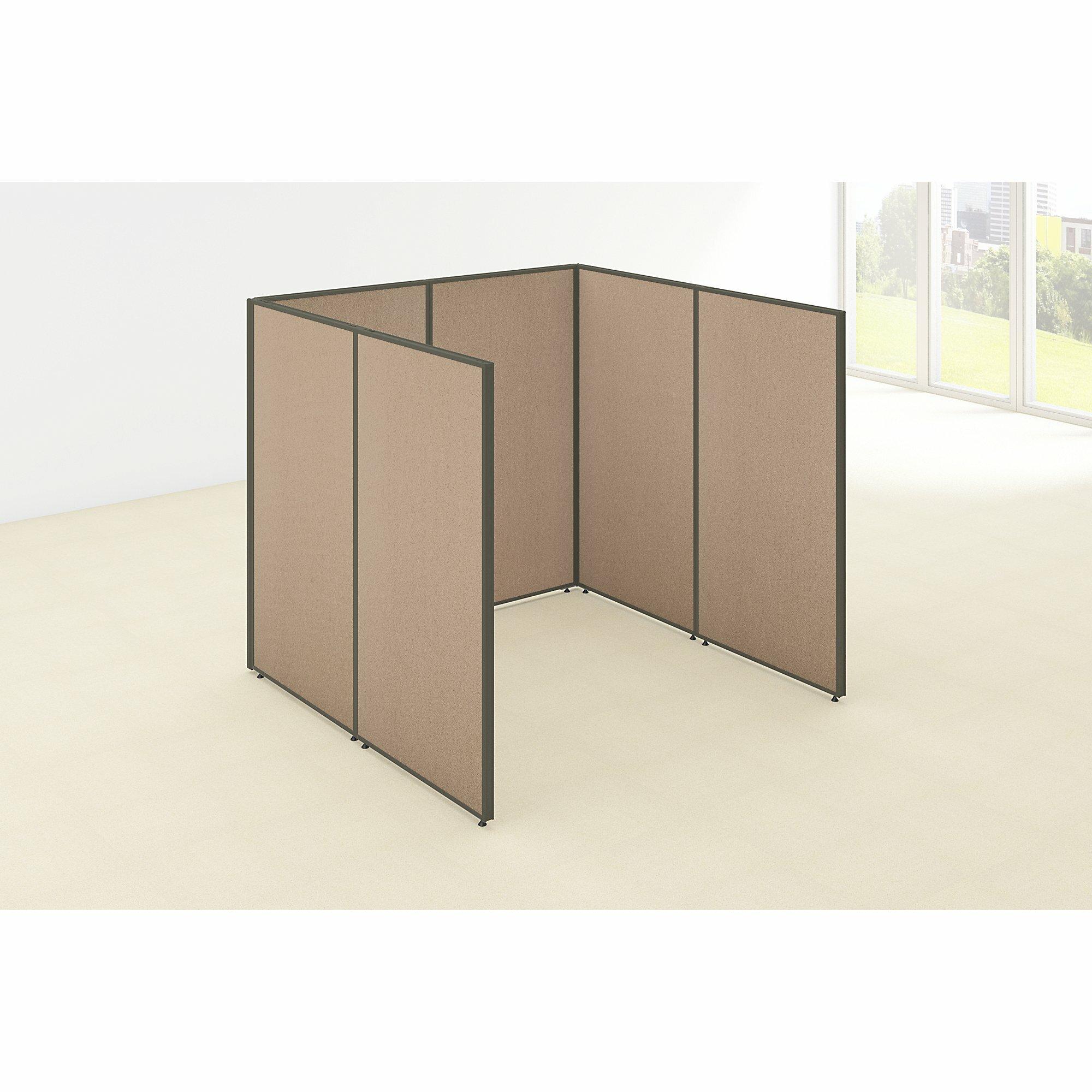 Aspenhome Warm Cherry Executive Modular Home Office: Bush Business Furniture ProPanel Open Cubicle