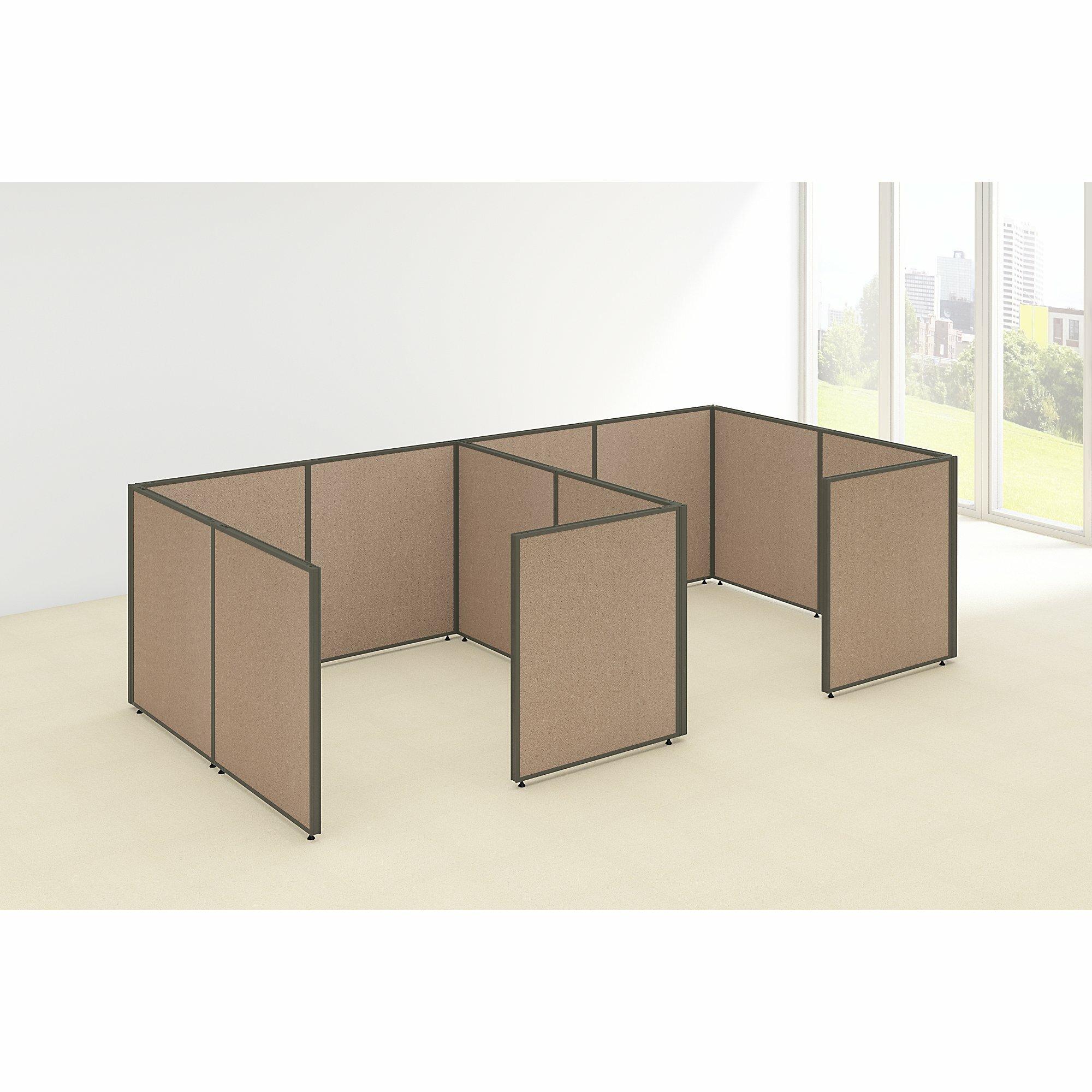 Bush Business Furniture ProPanel 2 Person Closed Cubicle