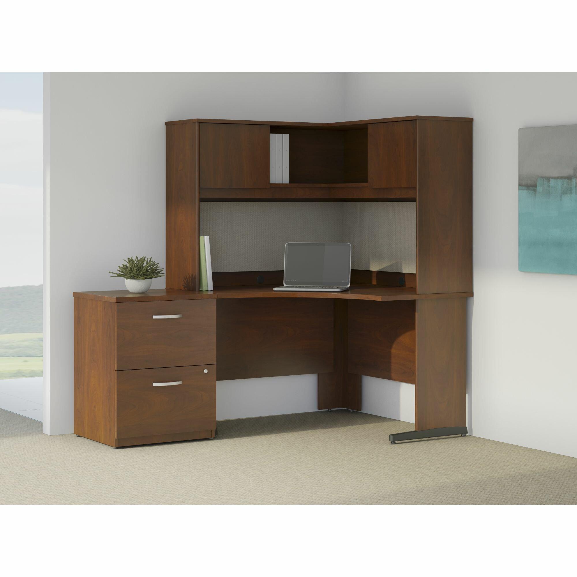 Bush Business Furniture Series C Elite L Shape Desk Office