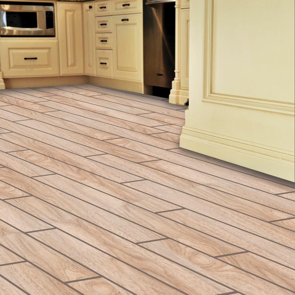 "SnapStone Planks ThinLine 6"" x 24"" Porcelain Wood Tile in"