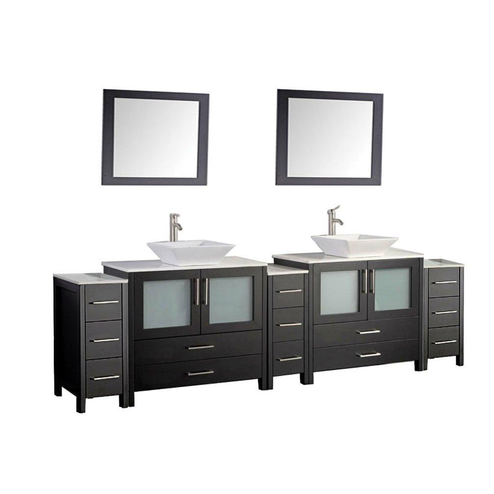 Mtdvanities Jordan 96 Double Sink Bathroom Vanity Set With Mirror Wayfair