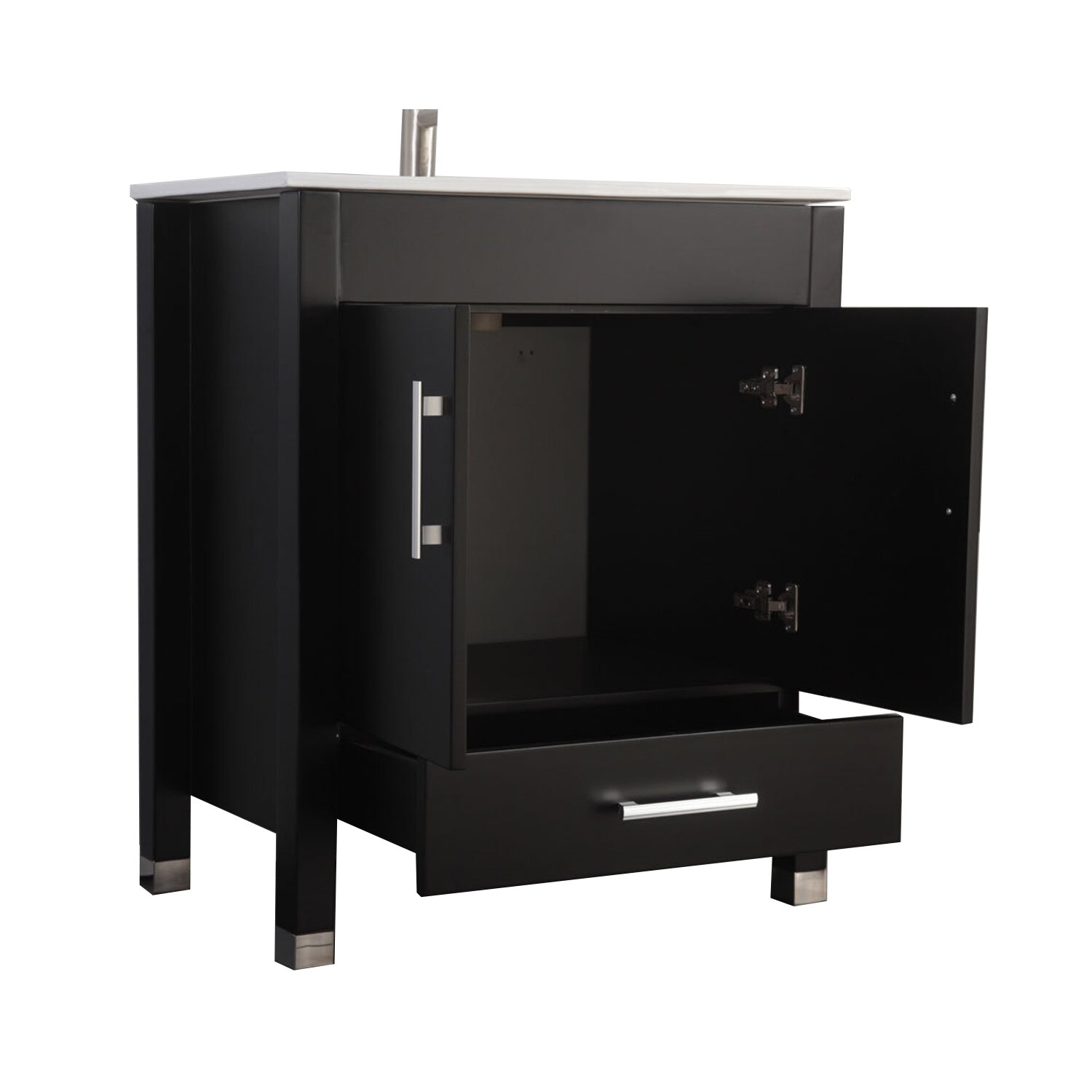 "MTDVanities Monaco 24"" Single Sink Bathroom Vanity Set ..."