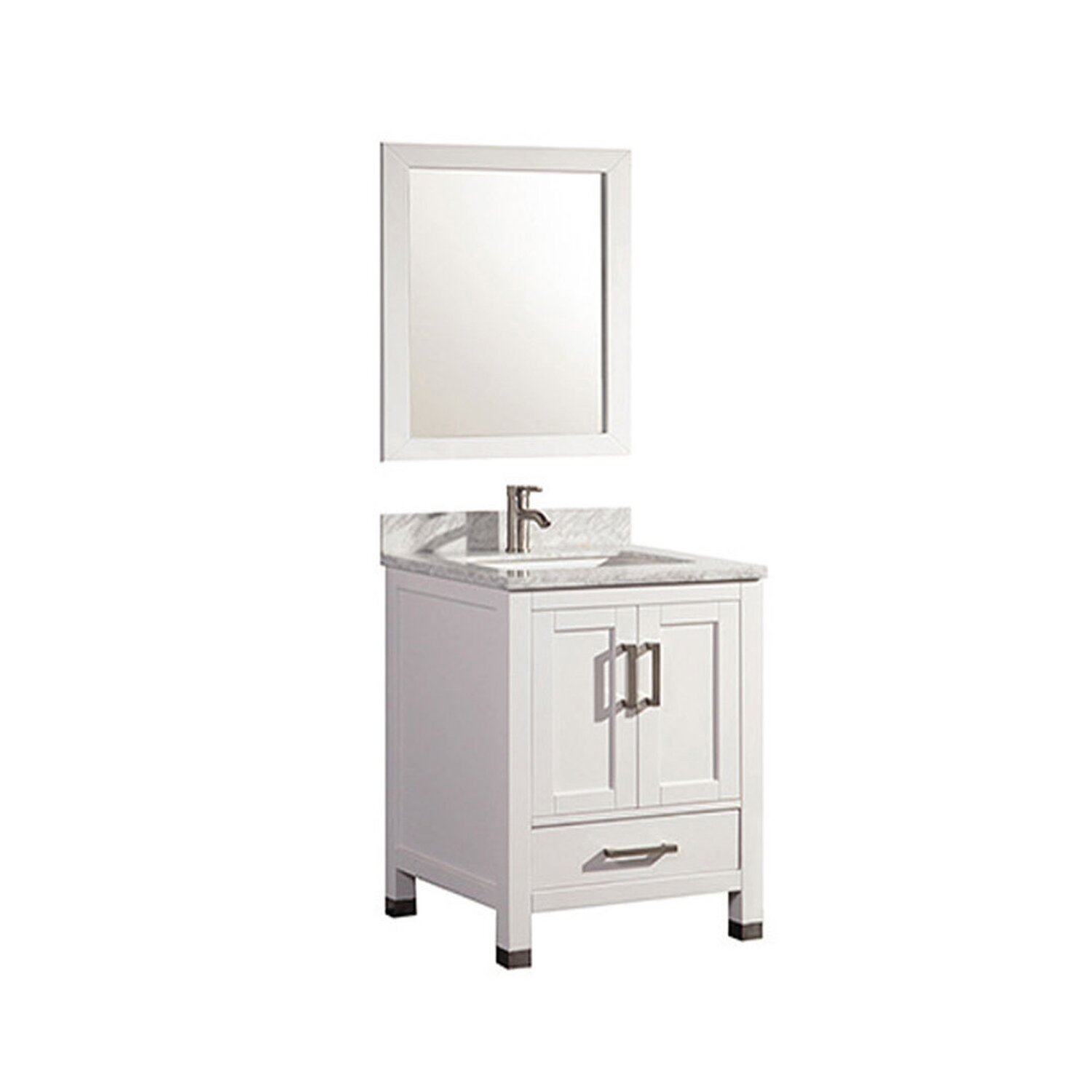 Mtdvanities ricca 24 single sink bathroom vanity set with mirror reviews wayfair Bathroom sink and vanity sets