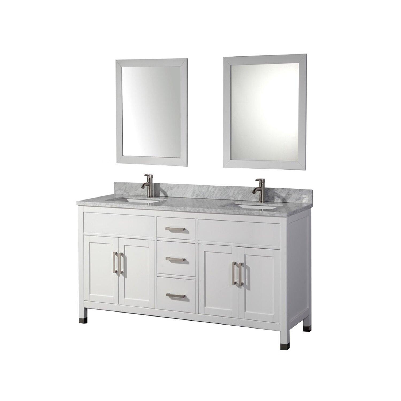 Double sided mirror bathroom cabinet in oklahoma city for Bathroom cabinets okc