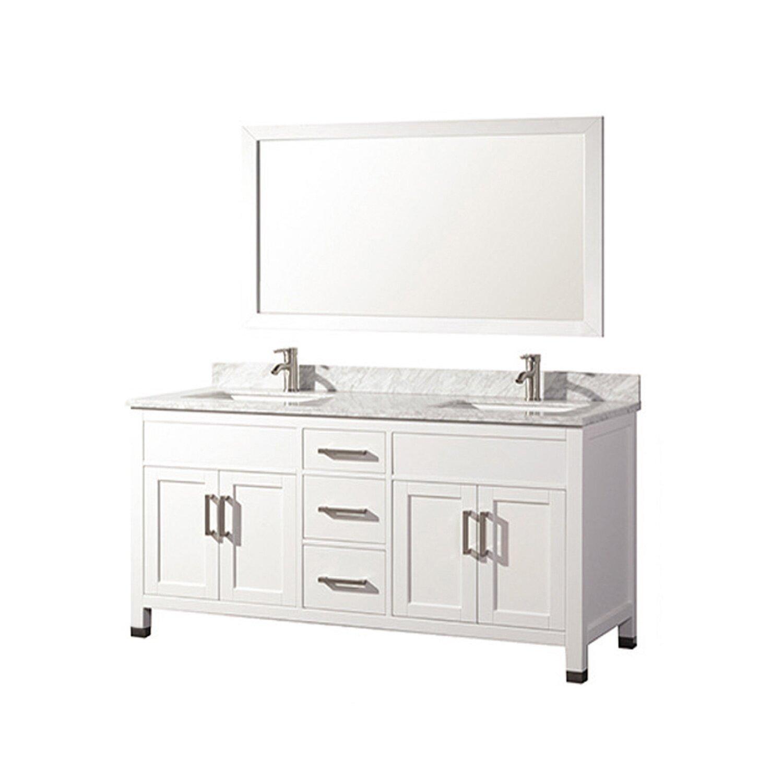MTDVanities Ricca 60 Double Sink Bathroom Vanity Set With Mirror