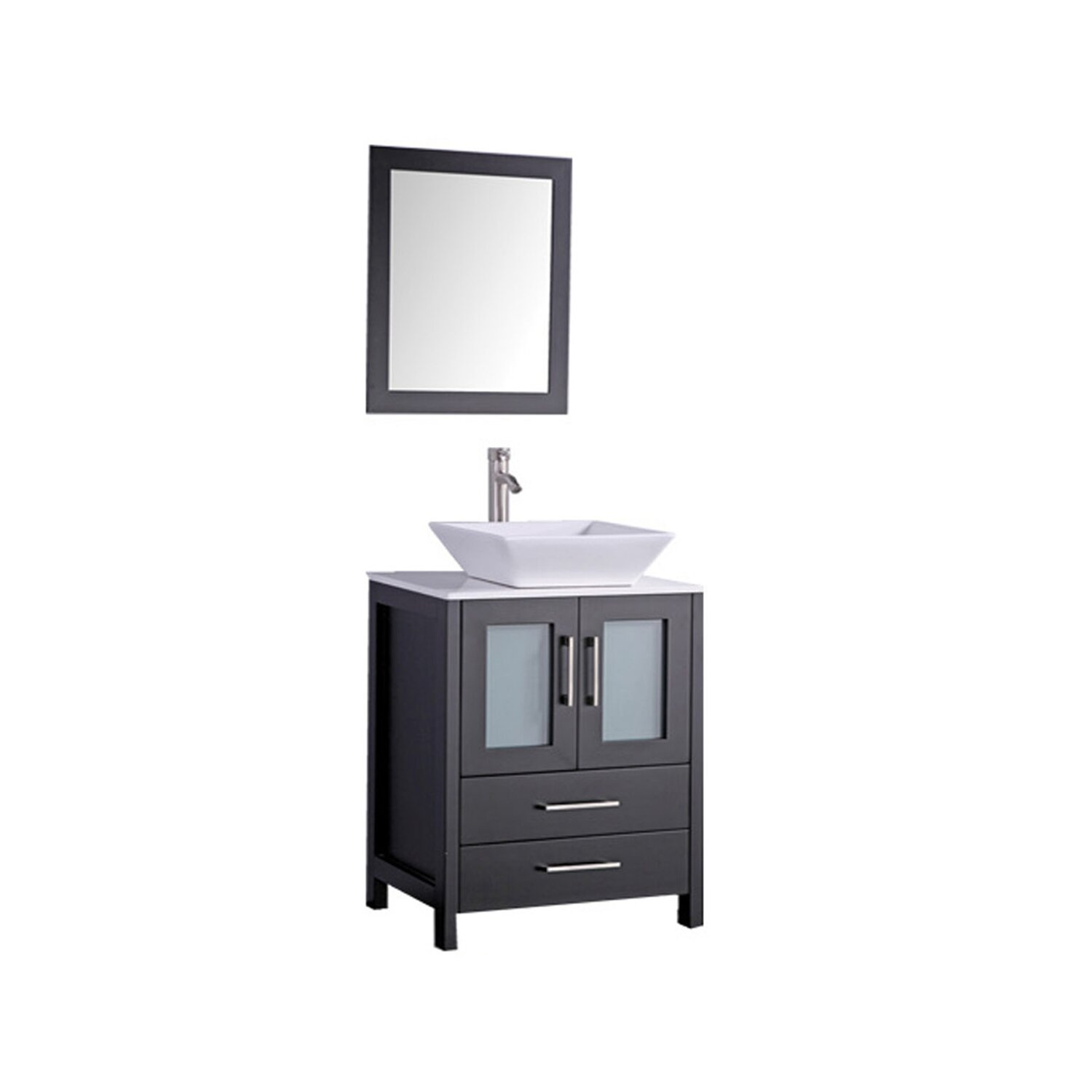 MTDVanities Jordan 30 Single Sink Bathroom Vanity Set With Mirror