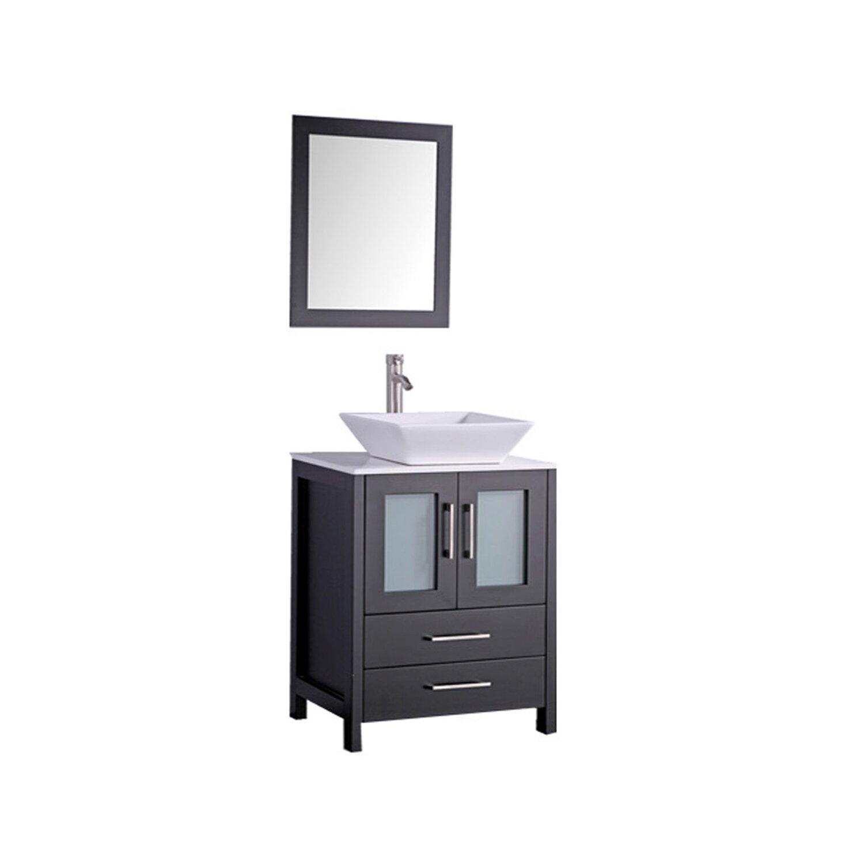 MTDVanities Jordan 30 Single Sink Bathroom Vanity Set With Mirror