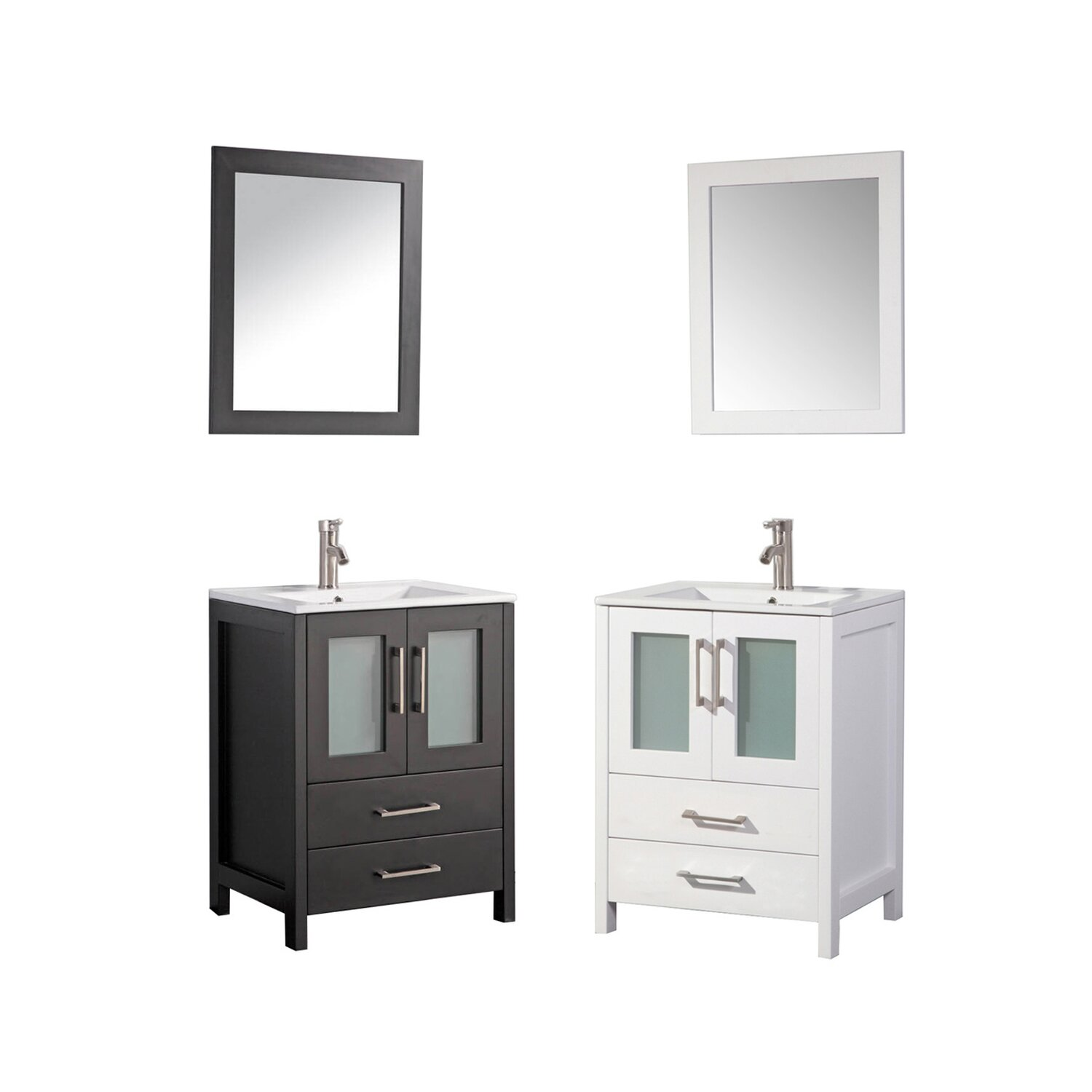 mtd vanities argentina 24 single sink bathroom vanity set with mirror