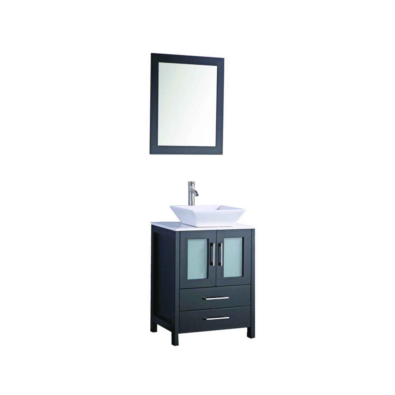 Mtdvanities Jordan 24 Single Sink Bathroom Vanity Set With Mirror Reviews Wayfair